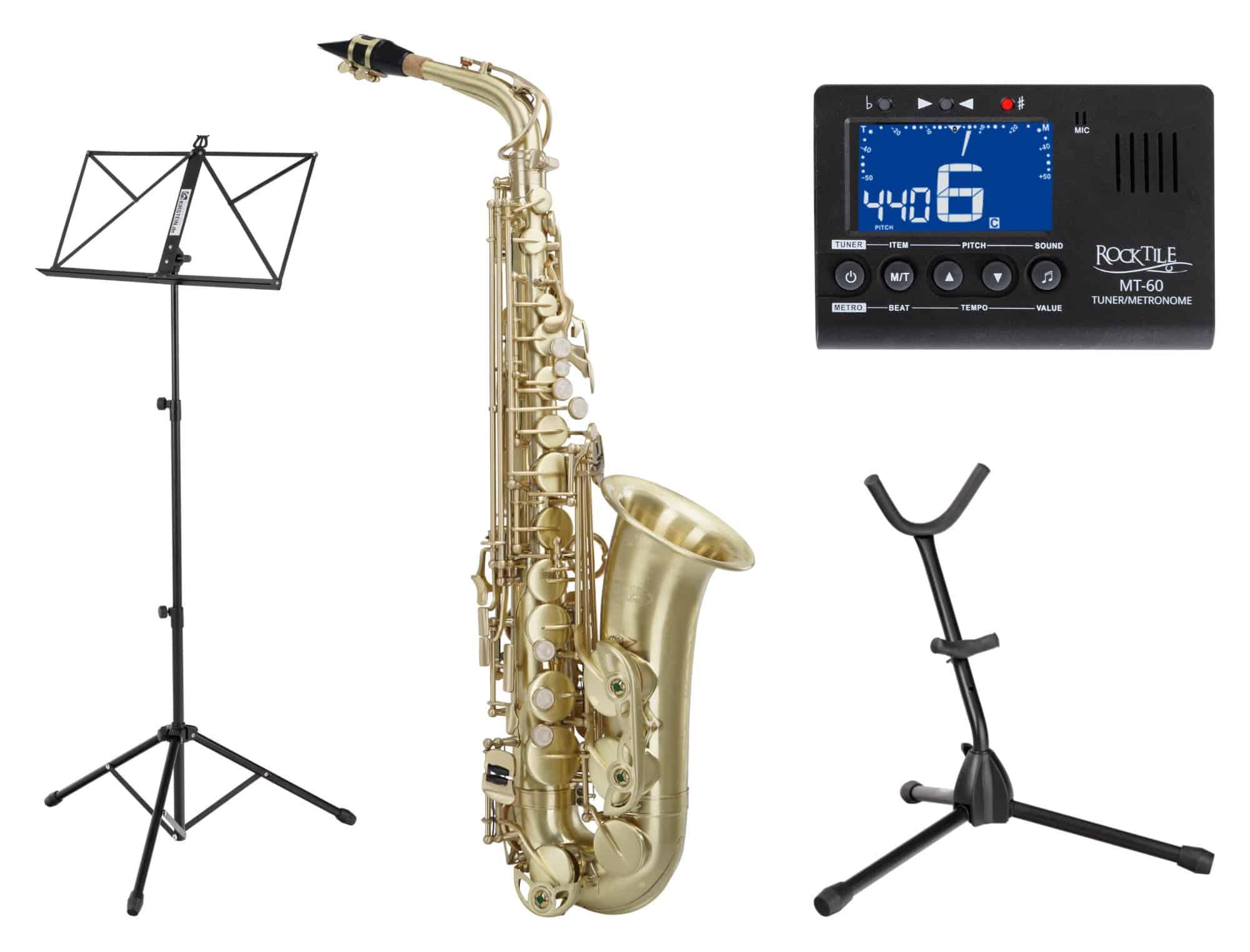 Saxophone - Classic Cantabile Winds AS 450 Brushed Altsaxophon SET - Onlineshop Musikhaus Kirstein
