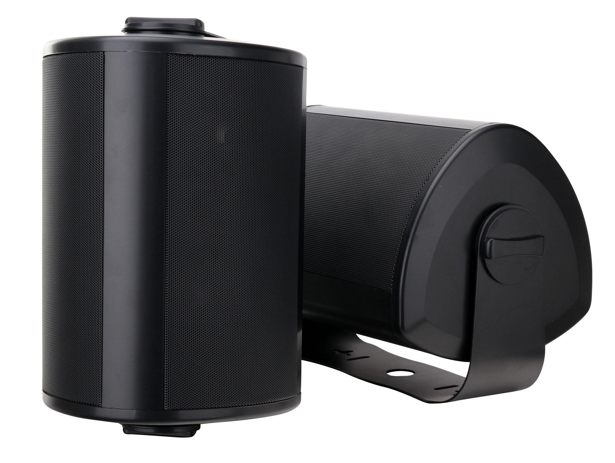 paar pronomic ols 10 bk outdoor lautsprecher schwarz 2x. Black Bedroom Furniture Sets. Home Design Ideas