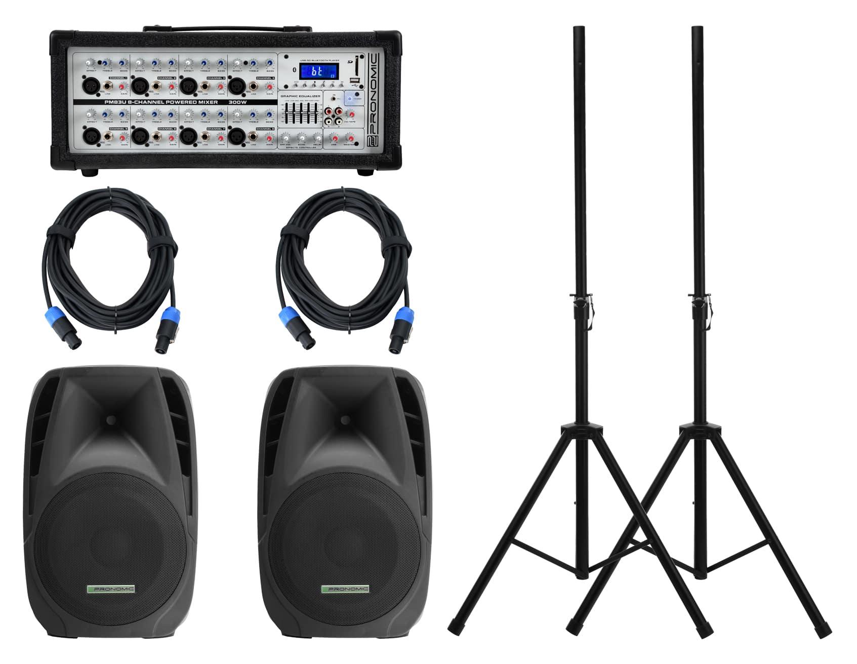 Boxenkomplettanlagen - Pronomic StagePower PM83 PH15 Mobil PA Set - Onlineshop Musikhaus Kirstein