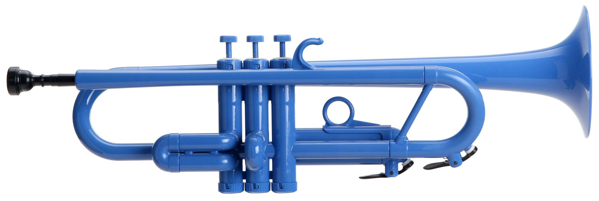 Classic Cantabile TROMBA Bb Jazz Kunststofftrompete blau