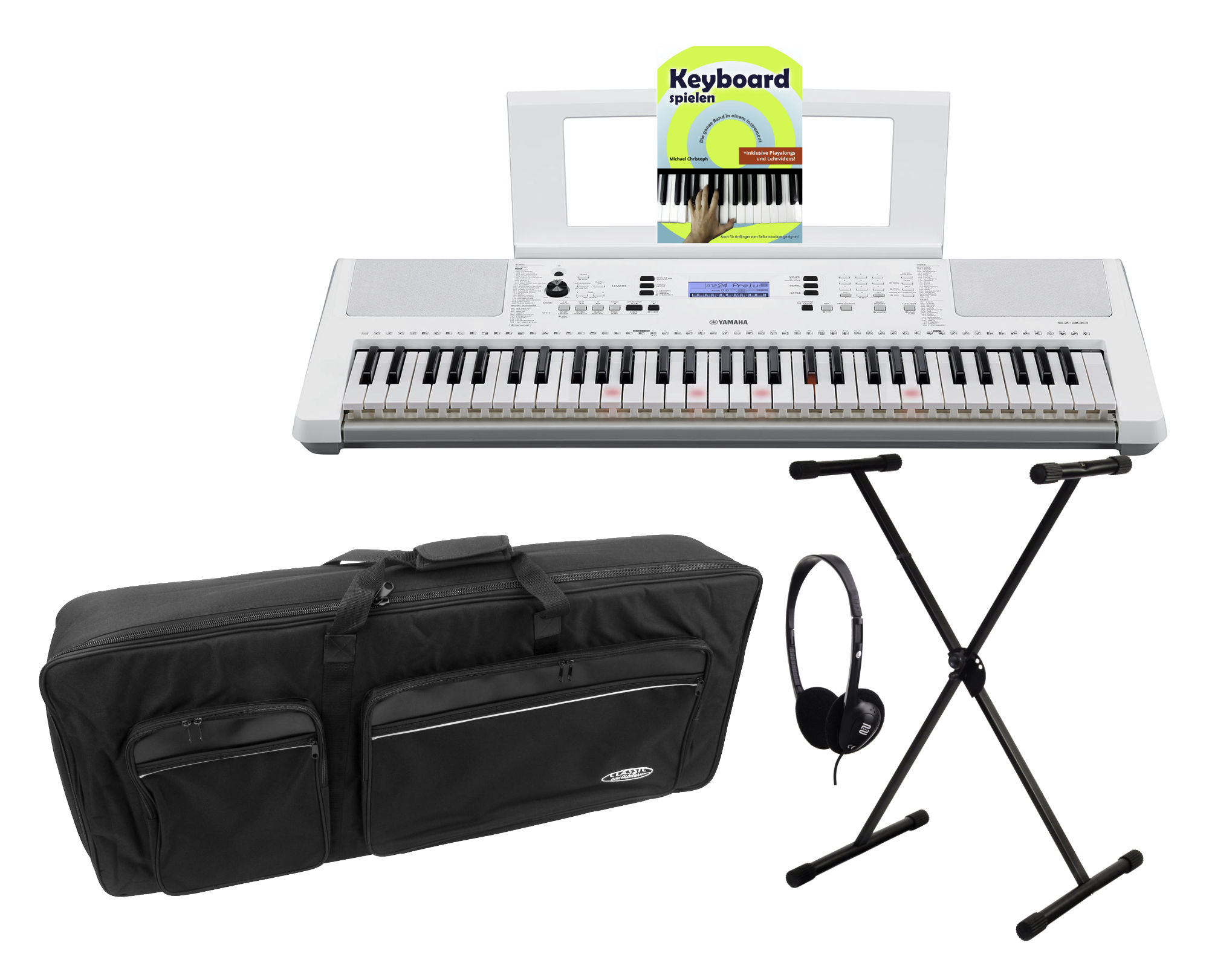 Homekeyboards - Yamaha EZ 300 Leuchttastenkeyboard Deluxe Set - Onlineshop Musikhaus Kirstein