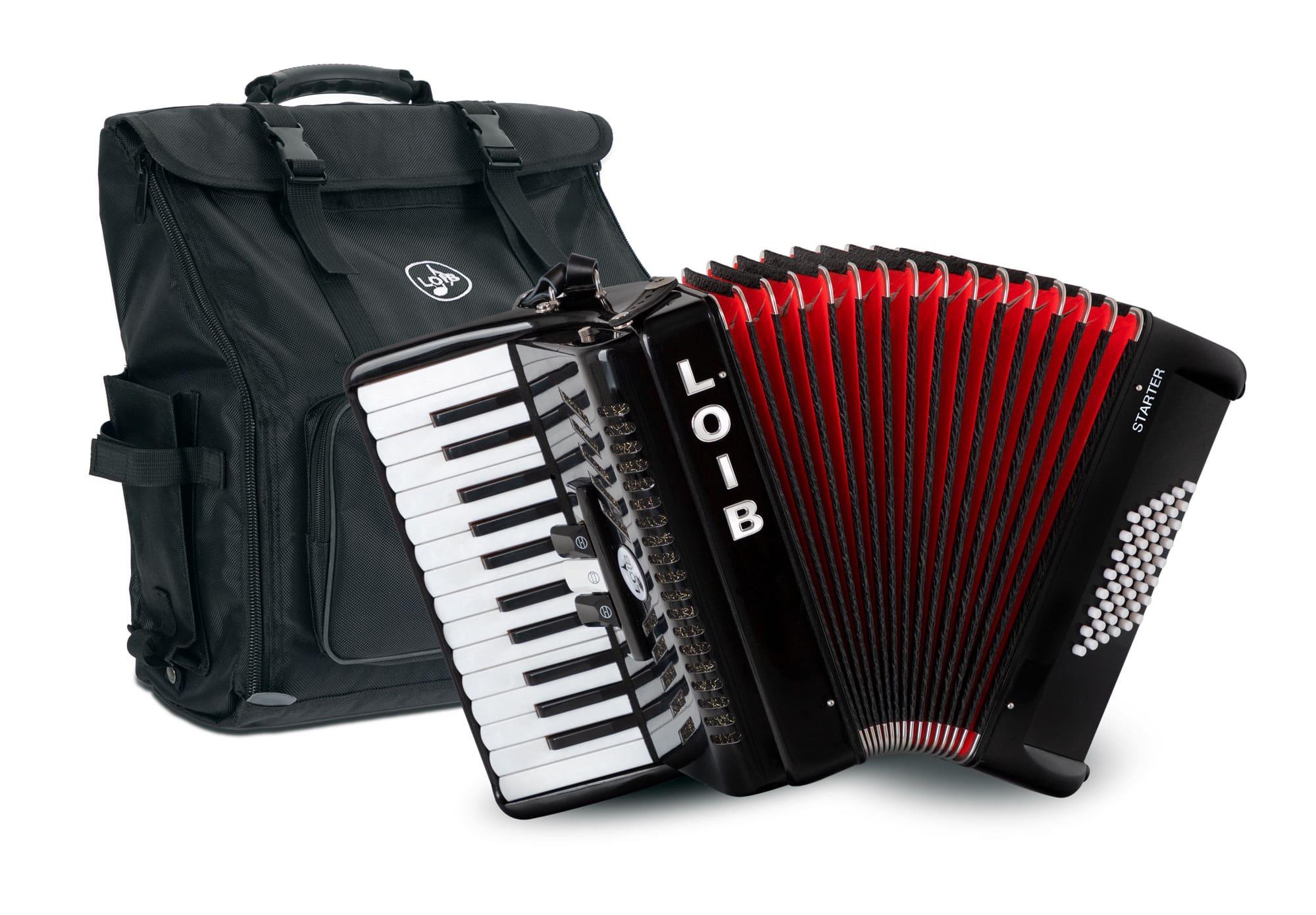 Akkordeons - Loib Starter II 48 BK Einsteiger Akkordeon schwarz Retoure (Zustand sehr gut) - Onlineshop Musikhaus Kirstein