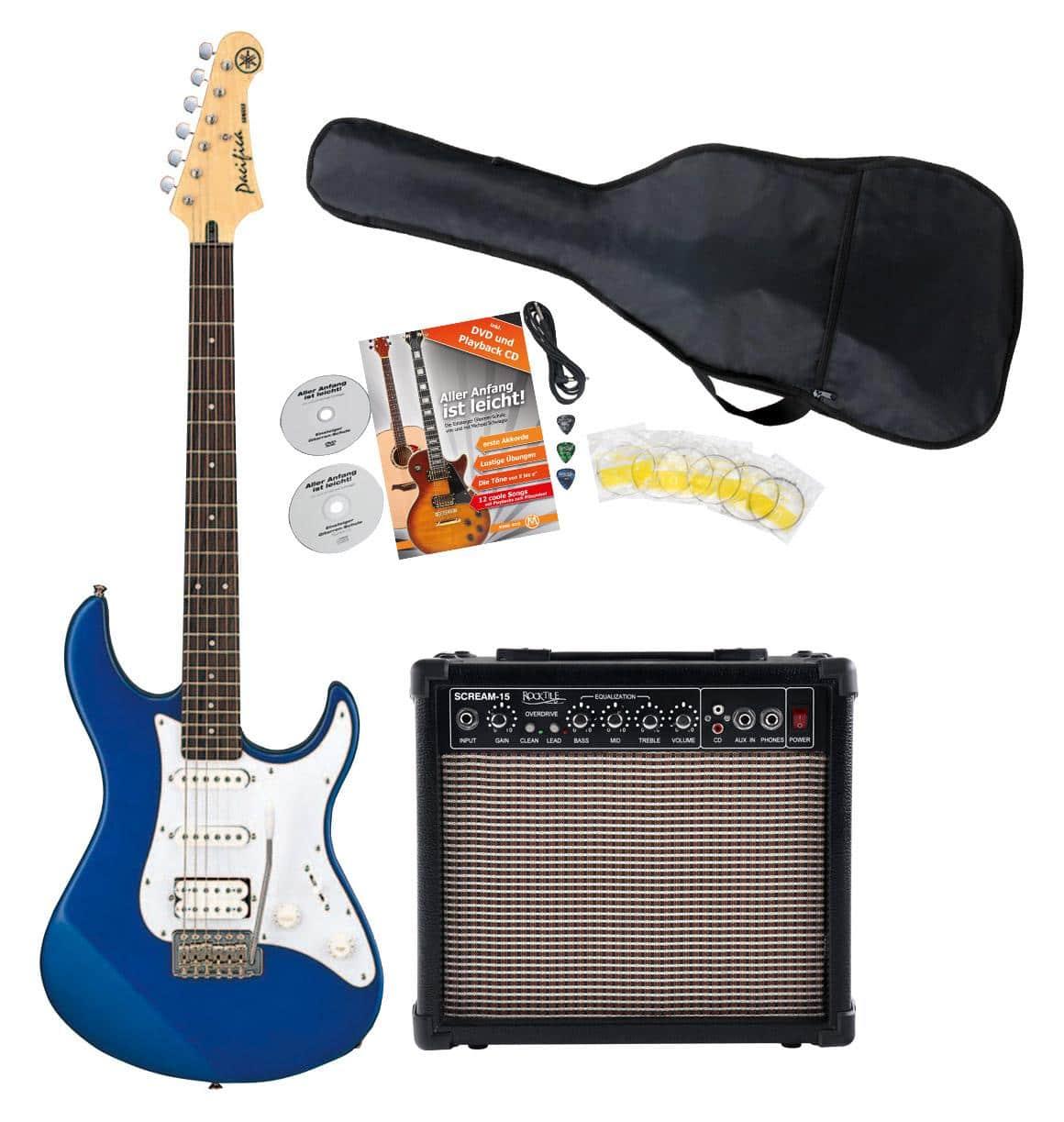 Egitarren - Yamaha Pacifica 012 DBM Blue E Gitarre Starter Set - Onlineshop Musikhaus Kirstein