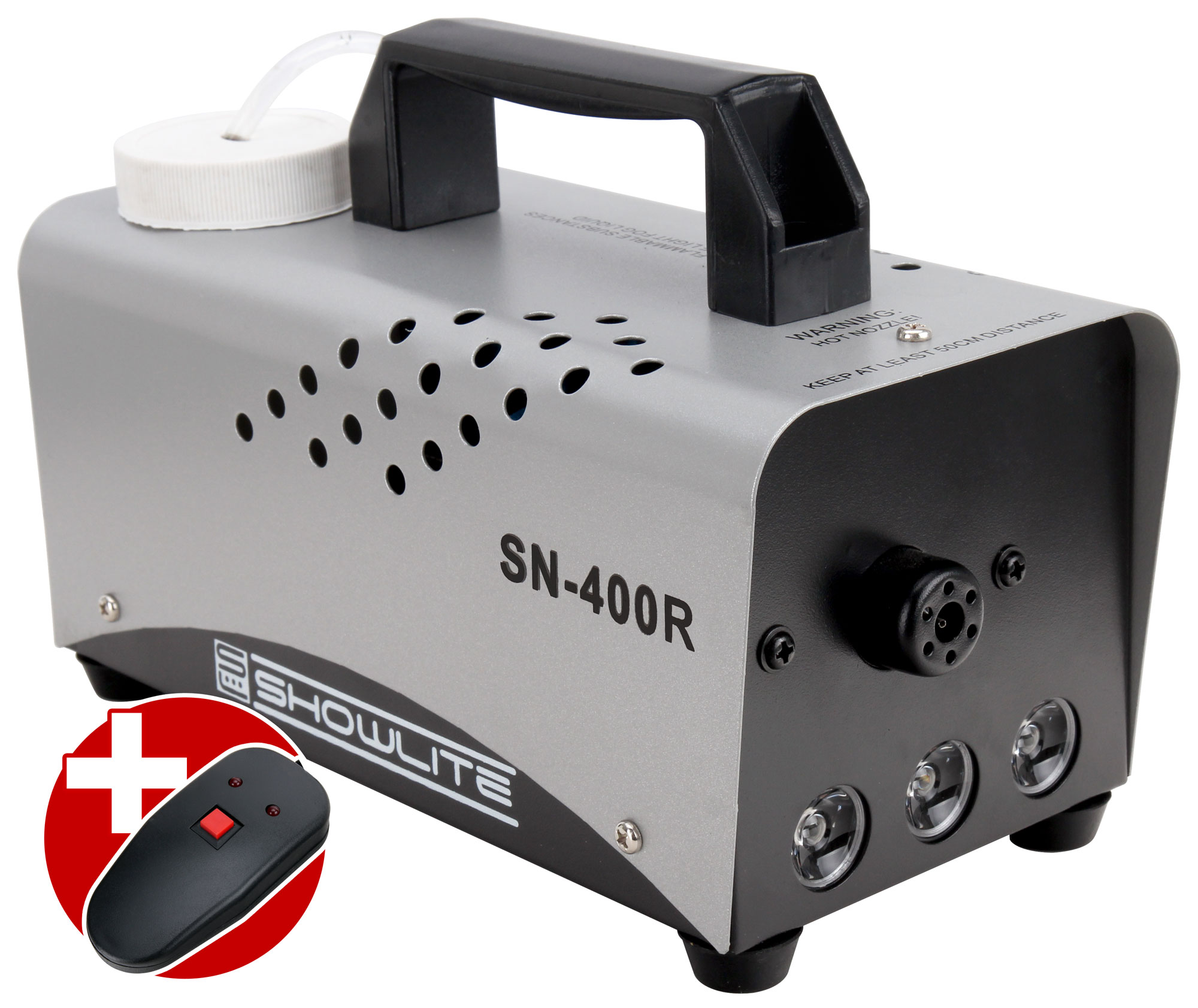 Showlite SN 400R LED Nebelmaschine rot 400W inkl. Fernbedienung