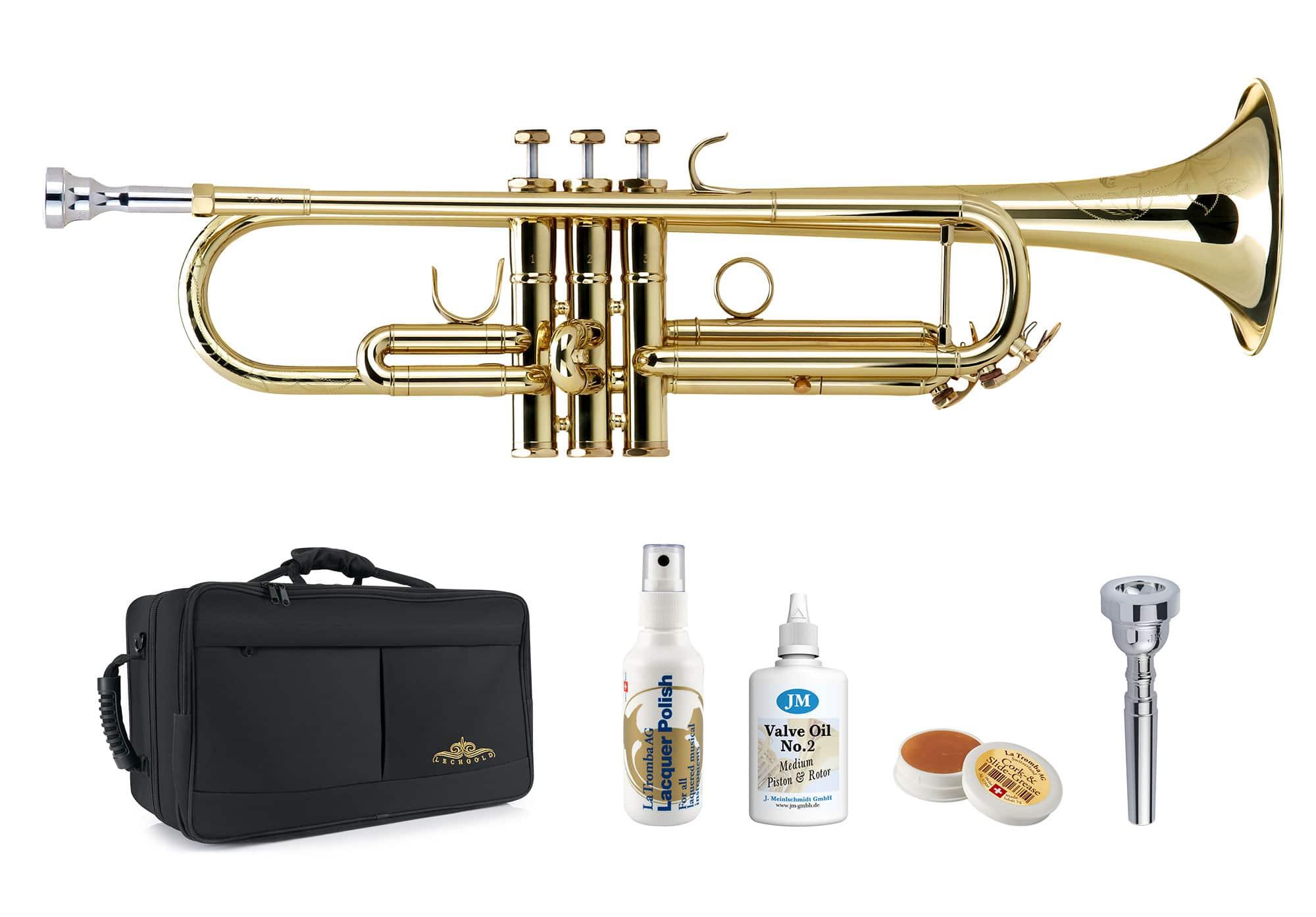 Trompeten - Lechgold TR 16L Bb Trompete lackiert Deluxe Set - Onlineshop Musikhaus Kirstein