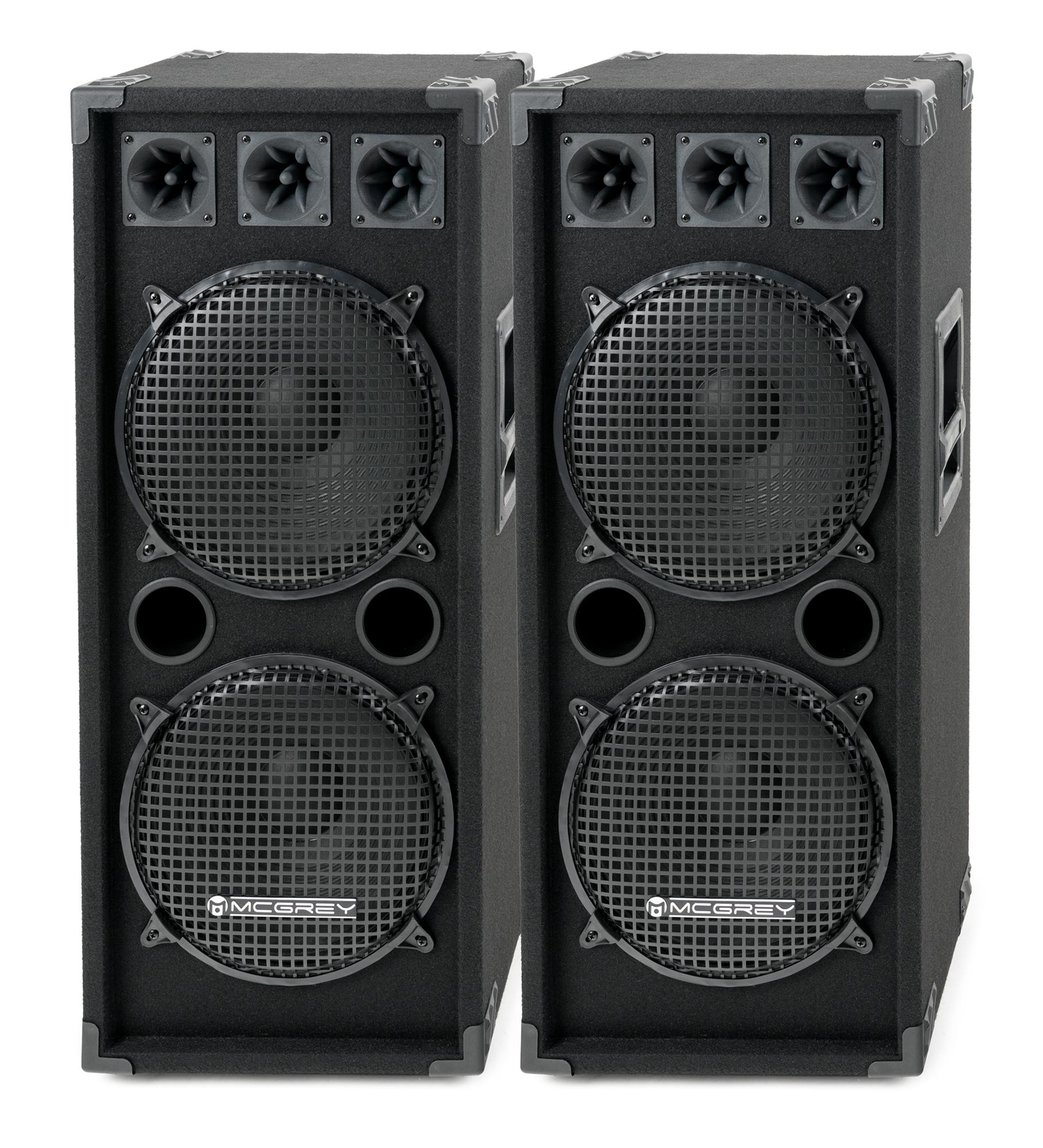 Paboxen - McGrey DJ 2222 Partykeller|DJ Box Paar 2 x 1000W - Onlineshop Musikhaus Kirstein