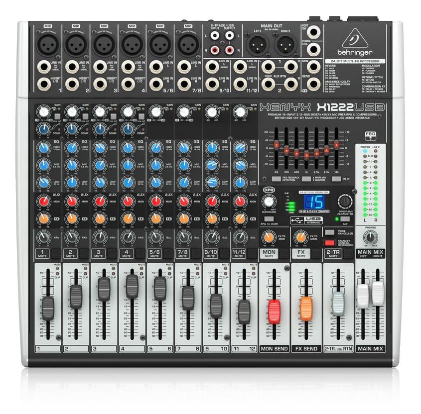 Mischpulte - Behringer Xenyx X1222 USB Mischpult - Onlineshop Musikhaus Kirstein