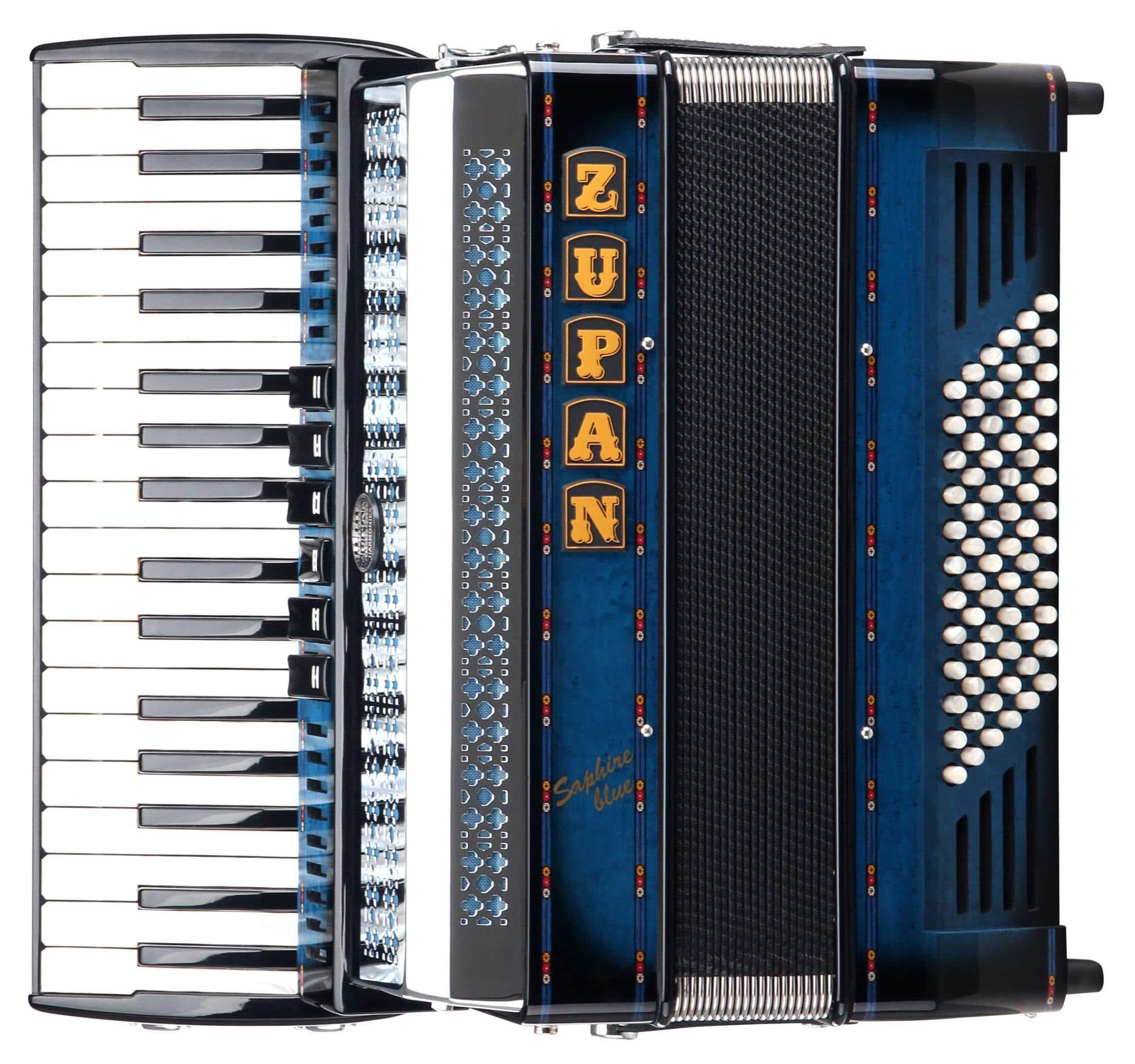 Akkordeons - Zupan Saphire III 72 MH Akkordeon Shadow Blue - Onlineshop Musikhaus Kirstein