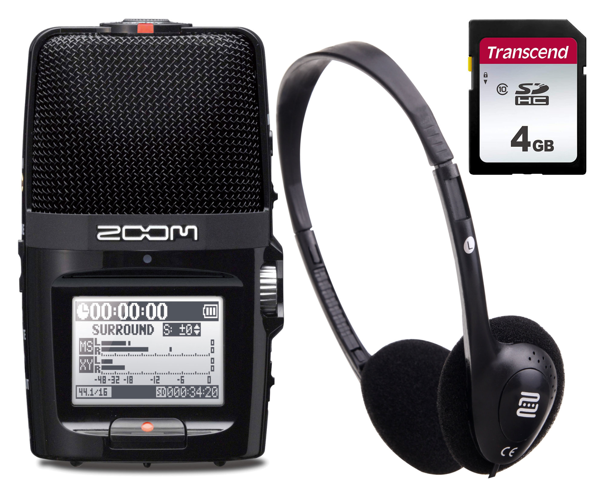 Zoom H2n SET inkl. Kopfhörer und 4 GB SDHC-Karte