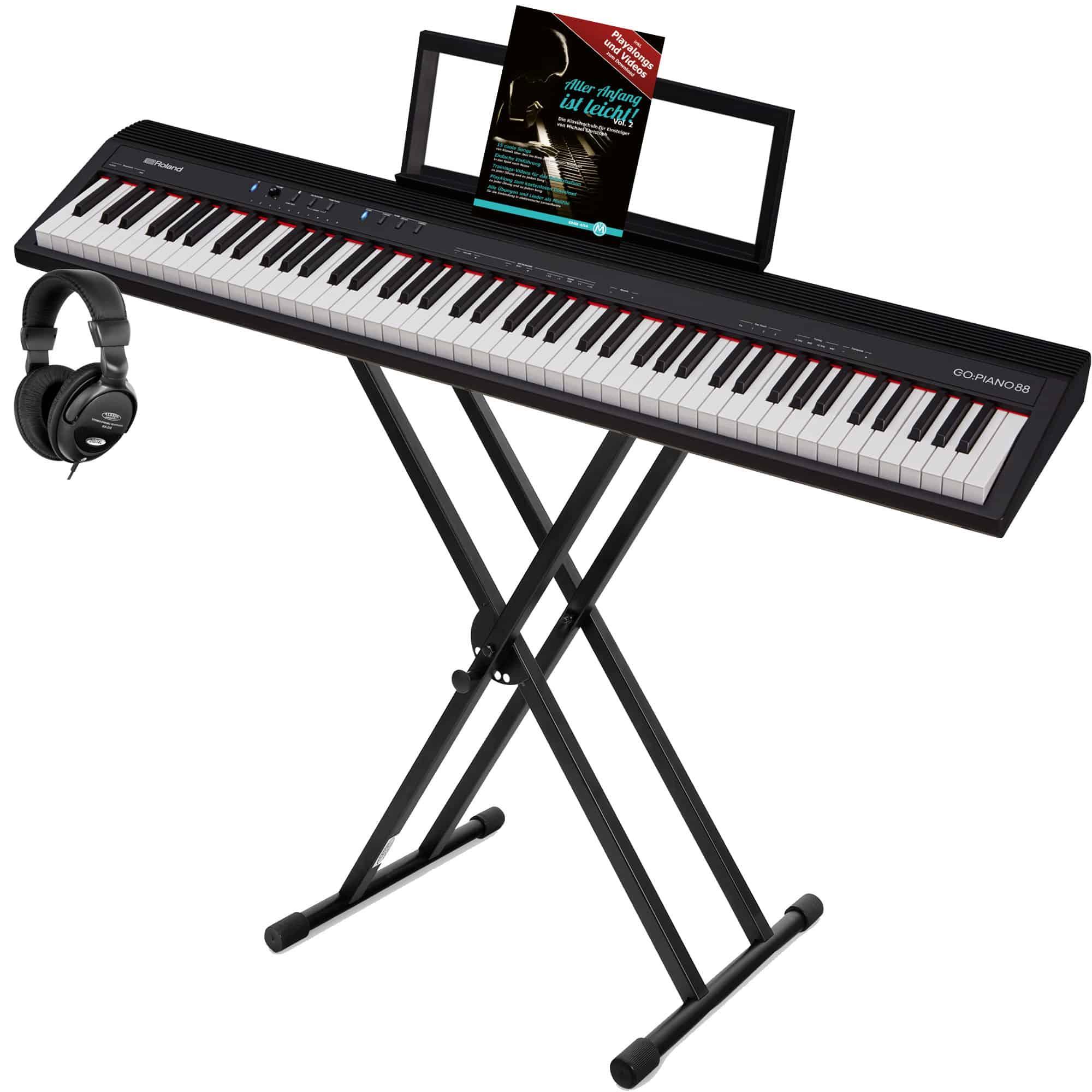 Stagepianos - Roland GO PIANO 88 Digitalpiano Set - Onlineshop Musikhaus Kirstein