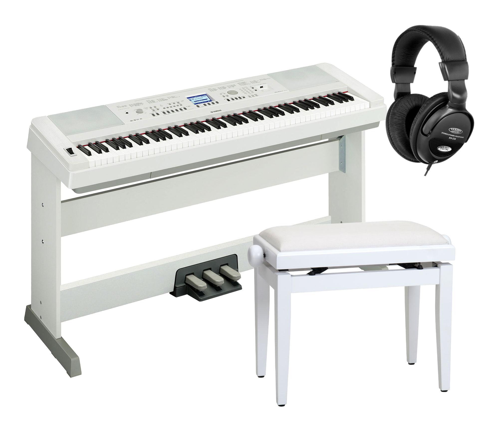 Yamaha dgx 650 portable piano wei set inkl pedaleinheit for Yamaha 650 piano