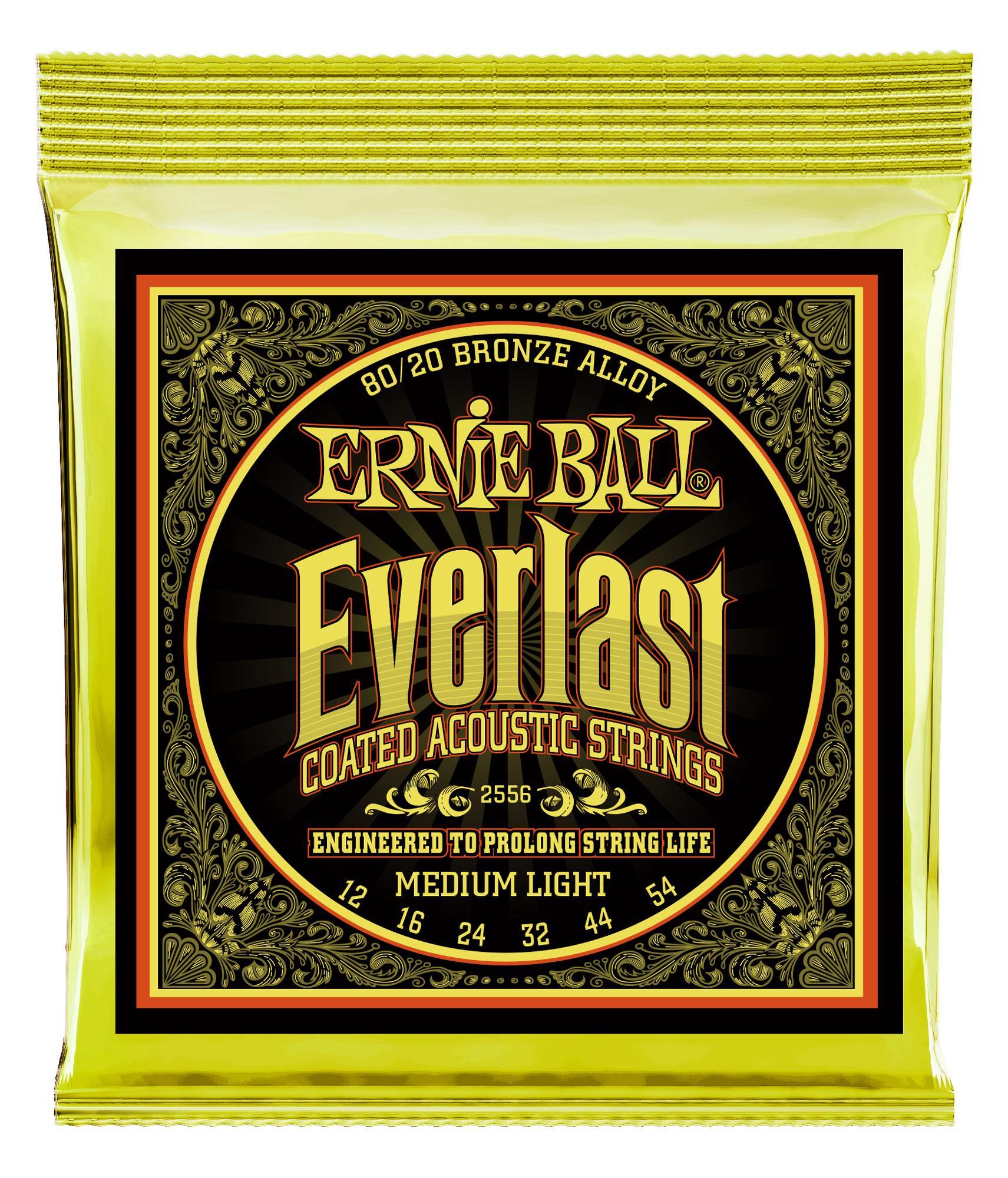 Ernie Ball 2556 Everlast Medium Light Coated 80|20 Bronze