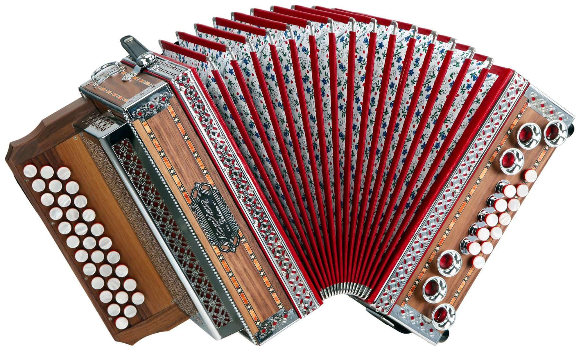 Alpenklang 3|II Harmonika 'Deluxe' B Es As Nuss