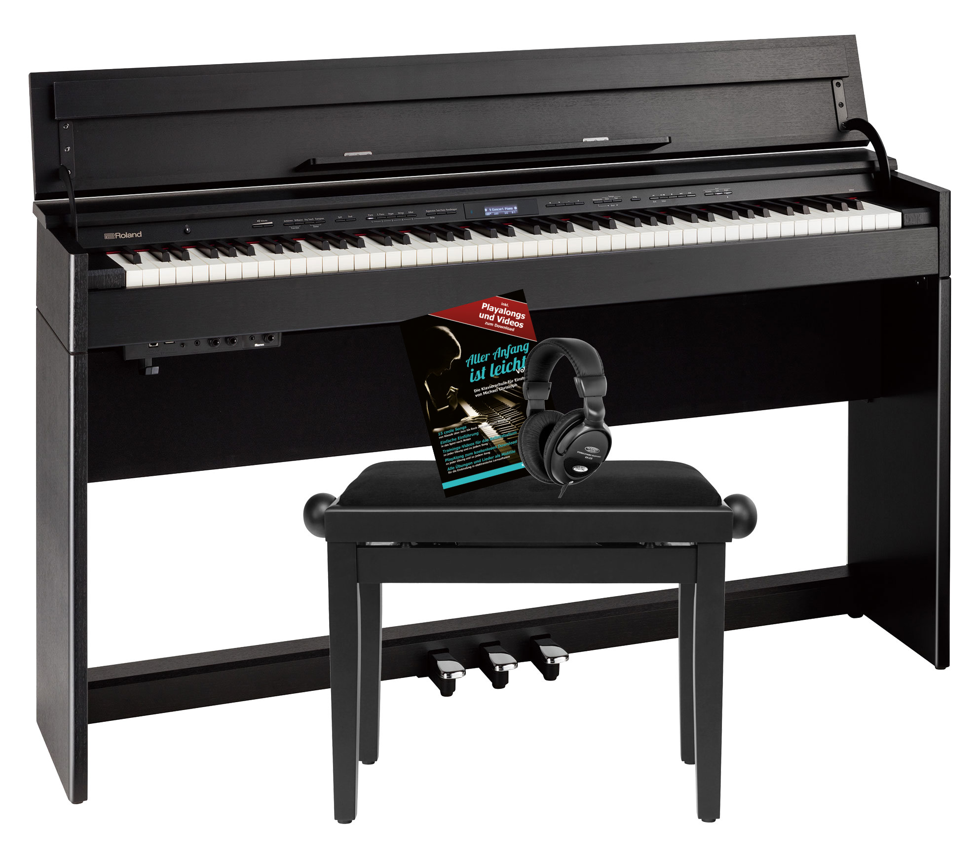 Digitalpianos - Roland DP603 CB Digitalpiano Set Schwarz Matt - Onlineshop Musikhaus Kirstein