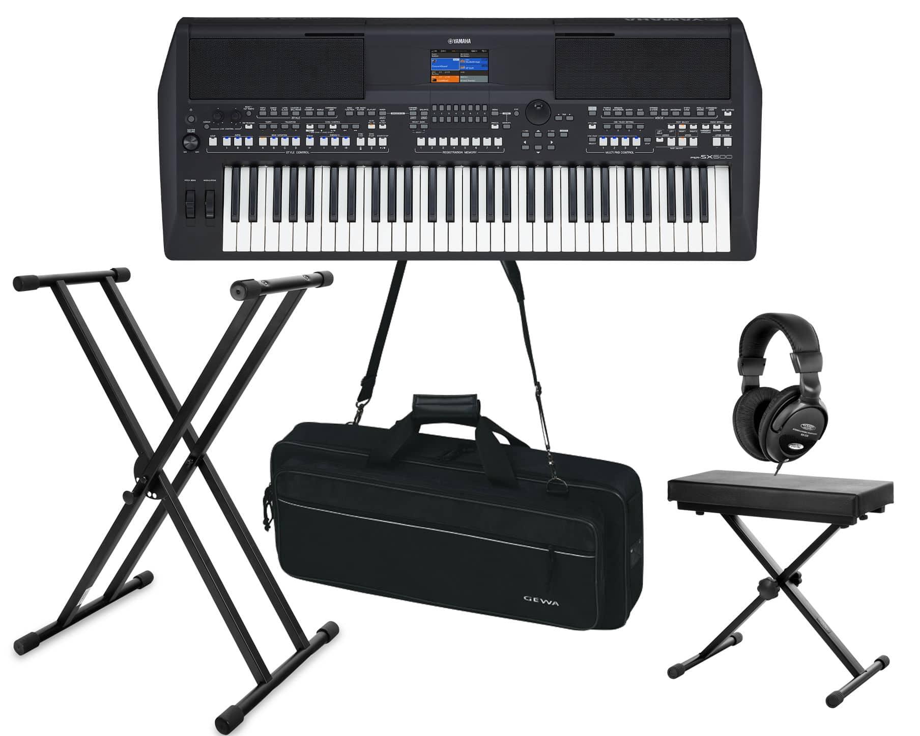 Homekeyboards - Yamaha PSR SX600 Keyboard Deluxe Set - Onlineshop Musikhaus Kirstein