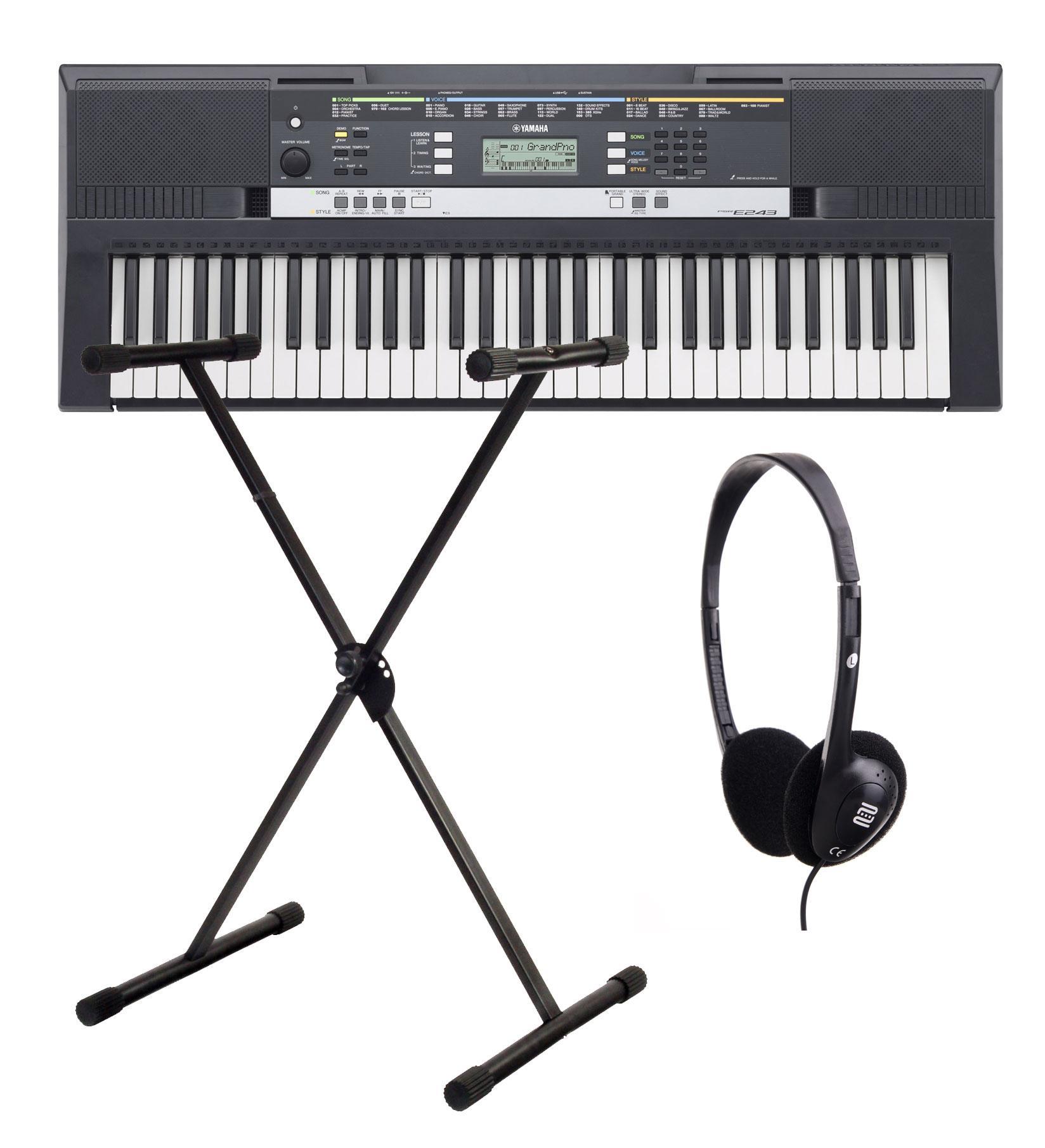 Yamaha PSR E243 Keyboard SET inkl. Ständer Kopfhörer