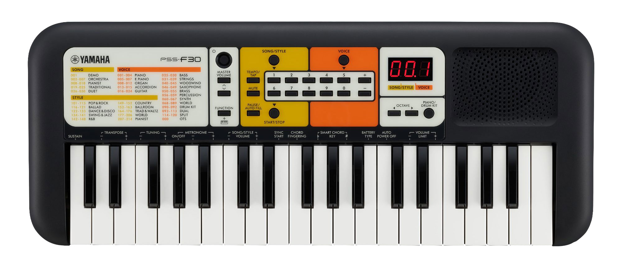Homekeyboards - Yamaha PSS F30 Keyboard - Onlineshop Musikhaus Kirstein