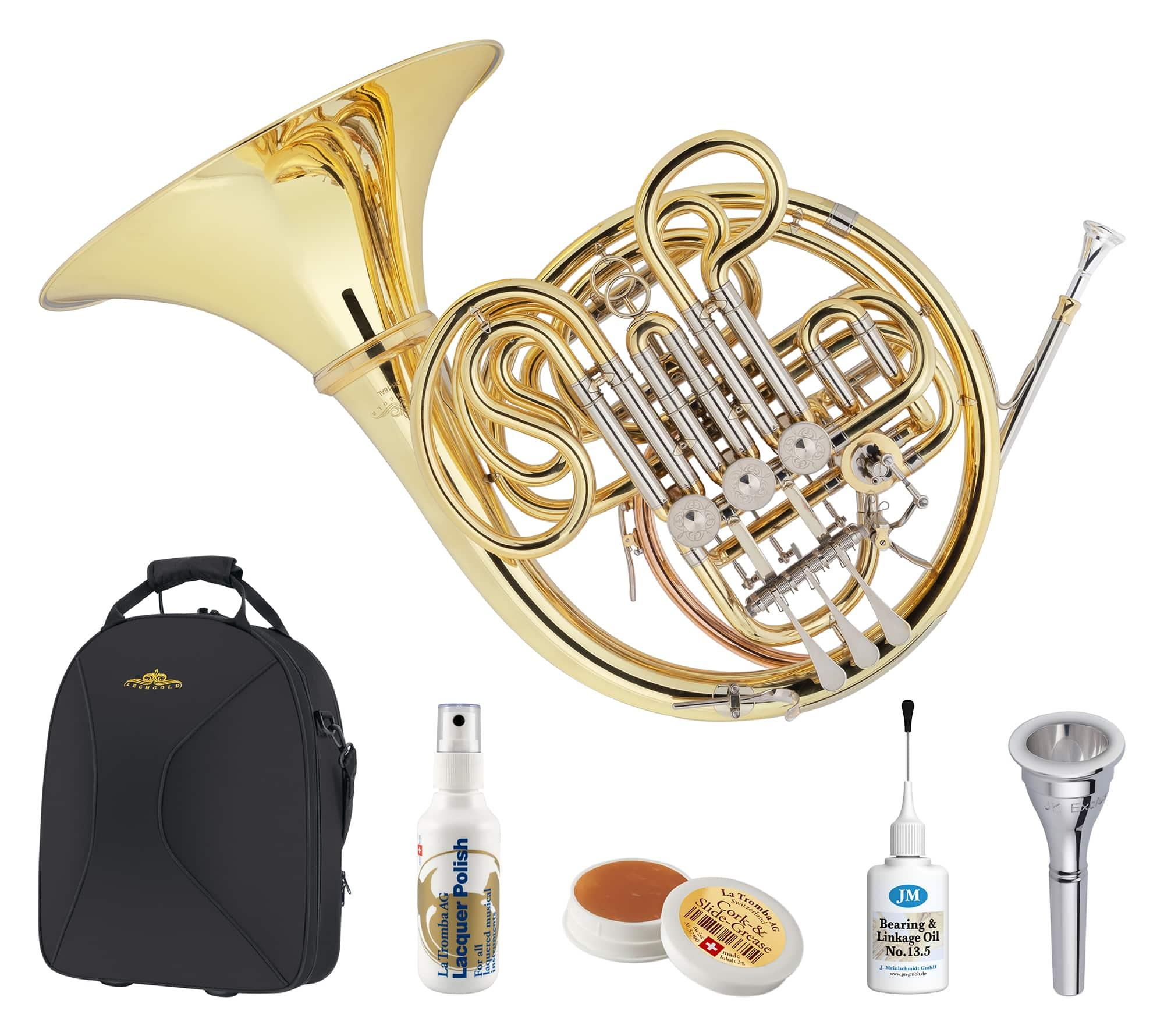 Hoerner - Lechgold DH 18AL Doppelhorn Deluxe Set - Onlineshop Musikhaus Kirstein