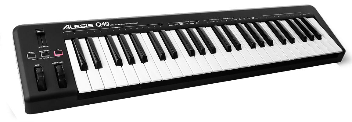 Alesis q49 49 TASTI USB MIDI CONTROLLER MASTER KEYBOARD PC MAC Ableton Live NUOVO