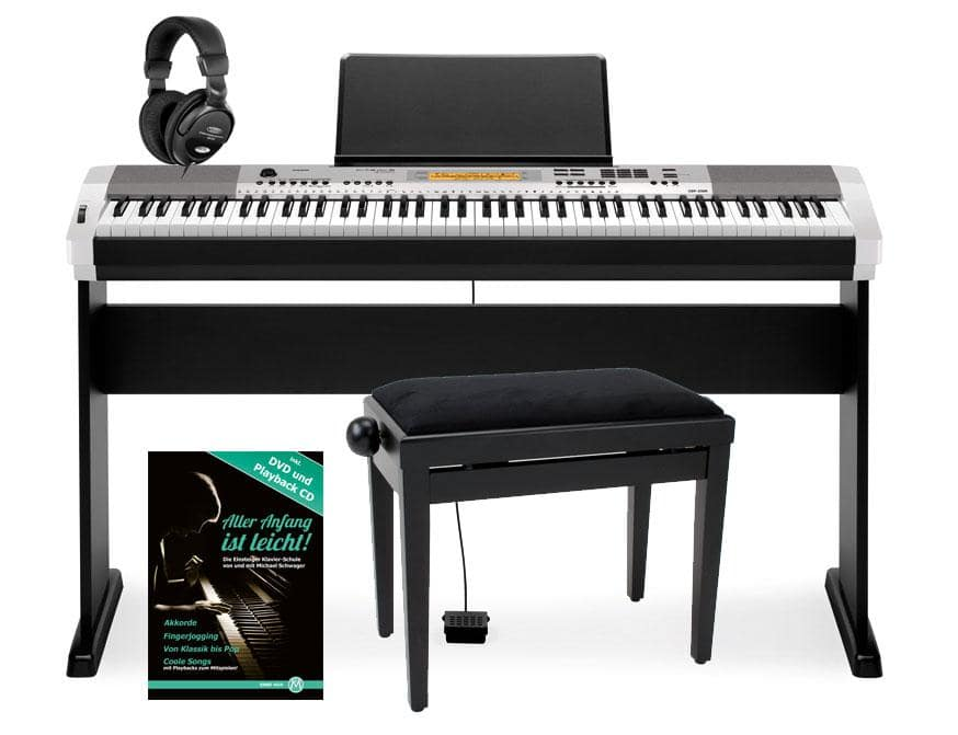 casio cdp 230r sr e piano silber deluxe set. Black Bedroom Furniture Sets. Home Design Ideas