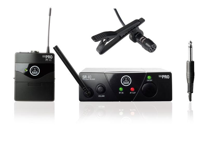 AKG WMS 40 Mini Presenter Komplettset 1, inkl. Lavalier Mikrofon