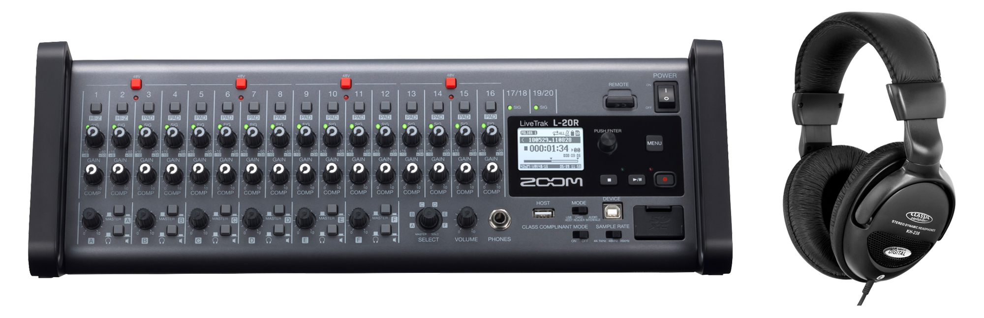 Zoom LiveTrak L 20R Digitalmixer Set