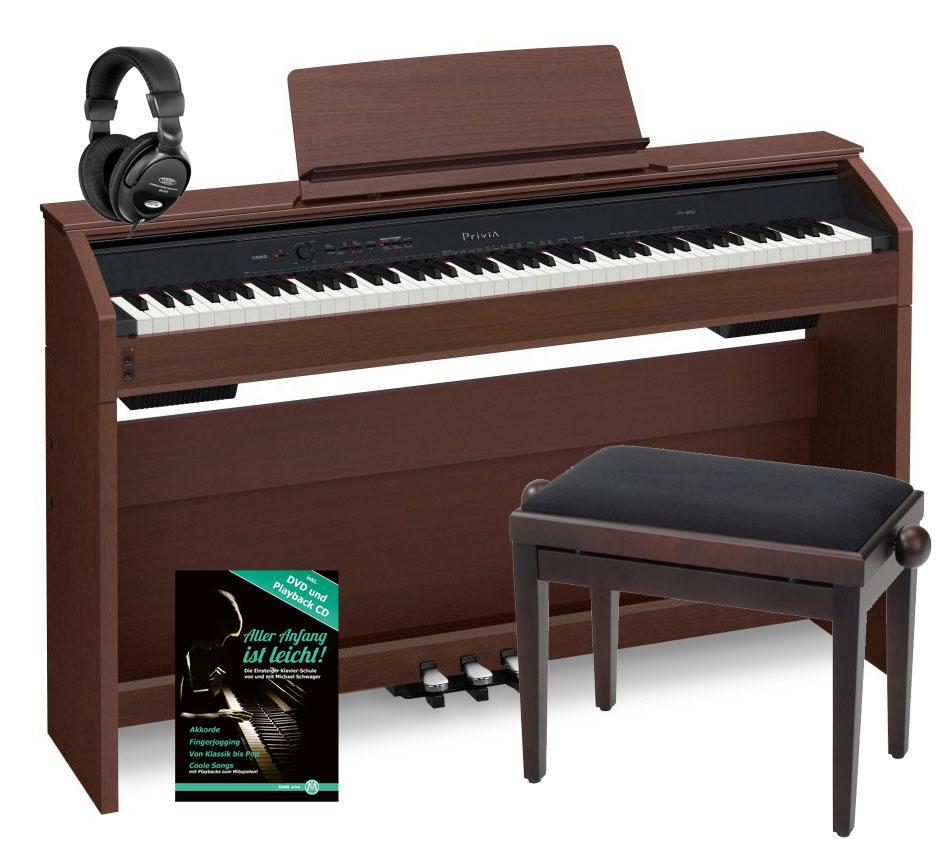 casio privia px 850 bn digital piano braun set kirstein music shop. Black Bedroom Furniture Sets. Home Design Ideas