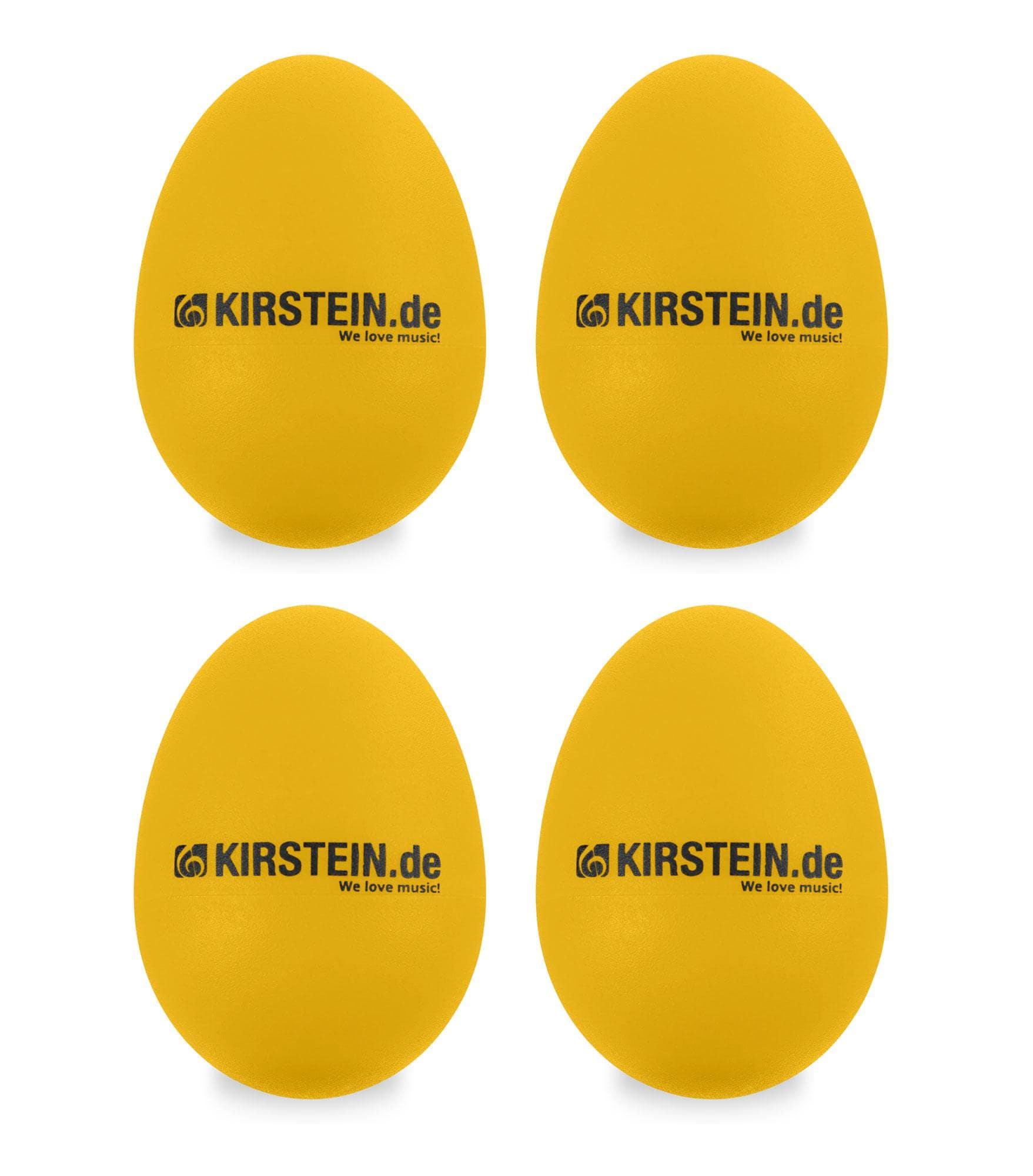 4x Kirstein ES 10Y Egg Shaker gelb Heavy Set