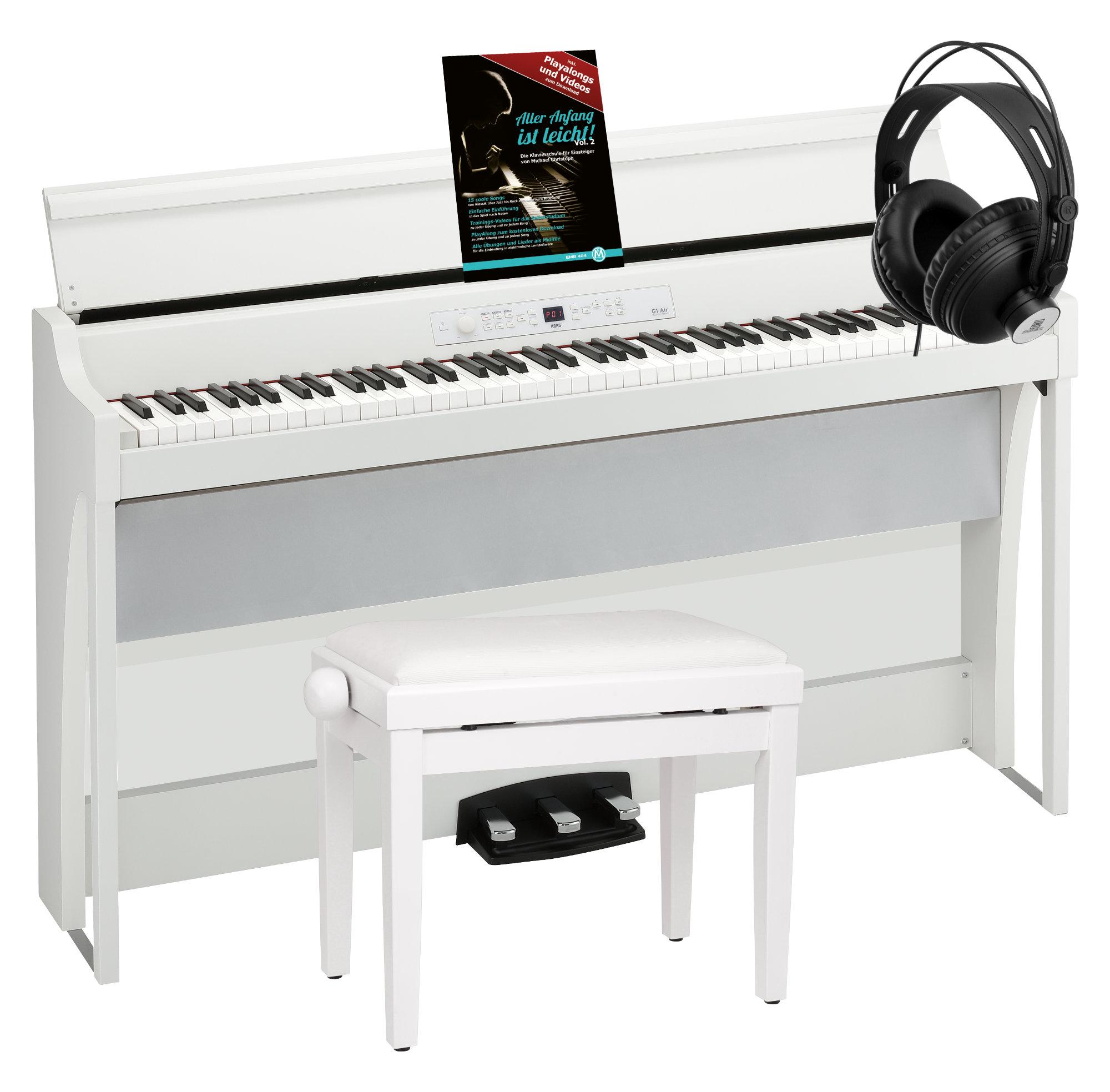 Digitalpianos - Korg G1 WH Air Digitalpiano Weiß Set - Onlineshop Musikhaus Kirstein