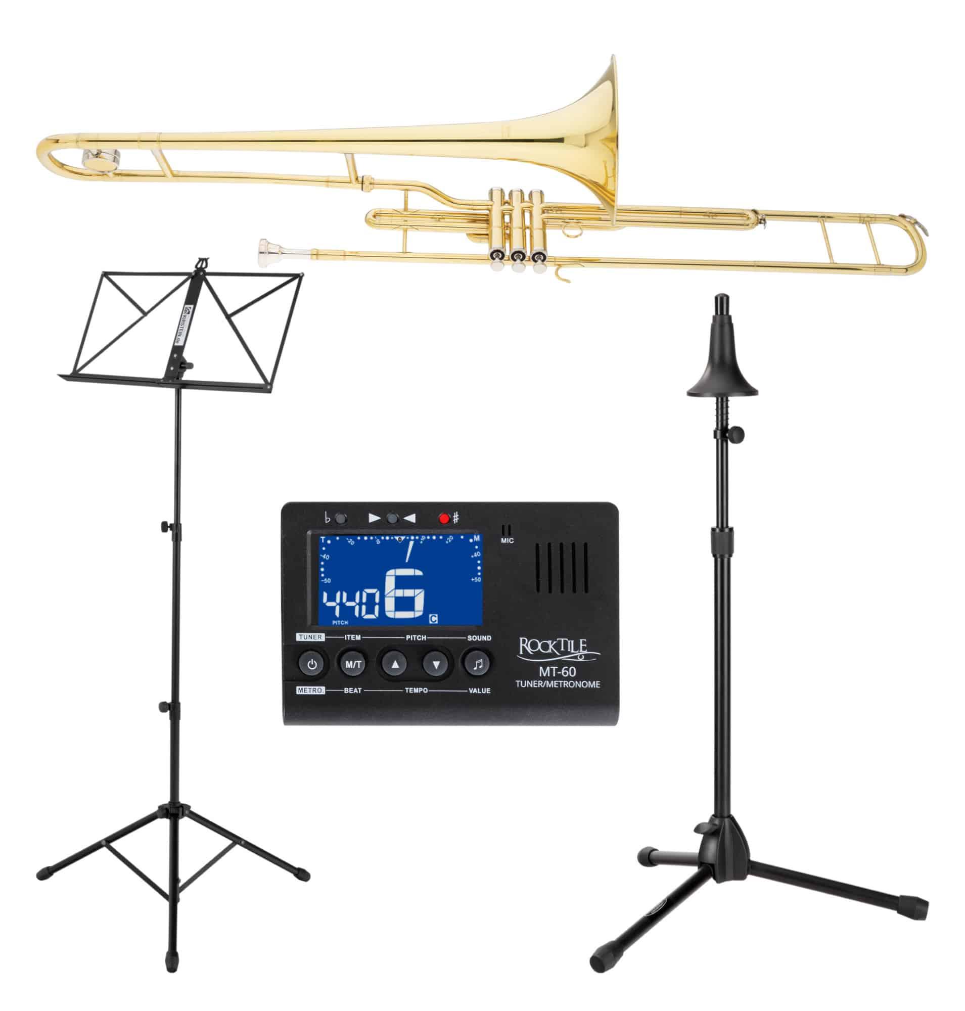Posaunen - Classic Cantabile Brass VP 16 Ventilposaune Set incl. Metronom, Notenständer, Posaunenständer - Onlineshop Musikhaus Kirstein