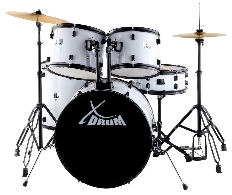 XDrum Rookie 22' Standard Schlagzeug Komplettset White inkl. Schule DVD