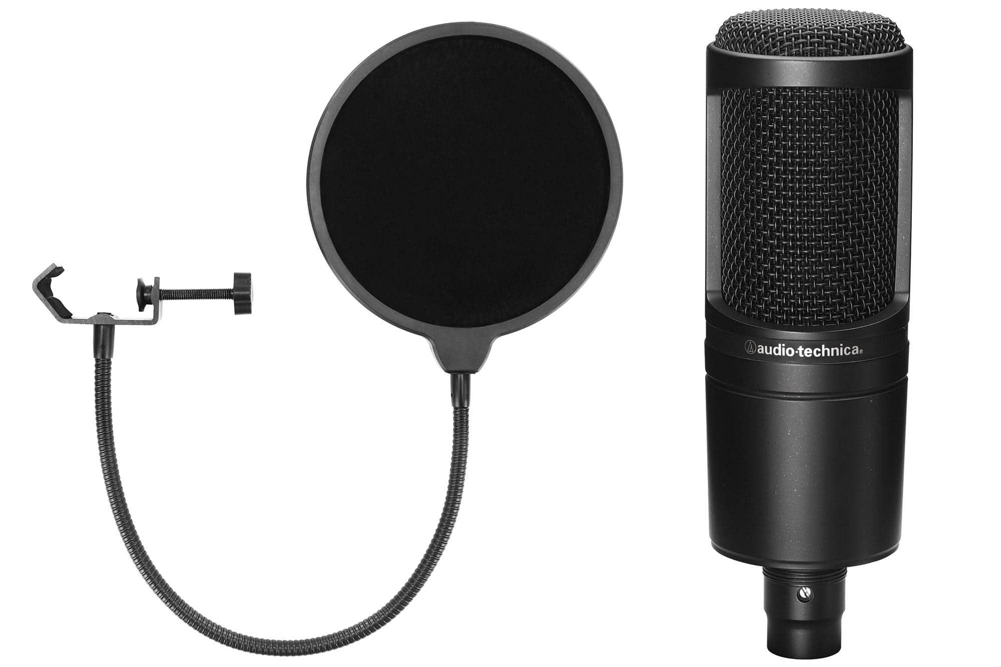 Audio Technica AT2020 Kondensatormikrofon Set inkl. Popkiller