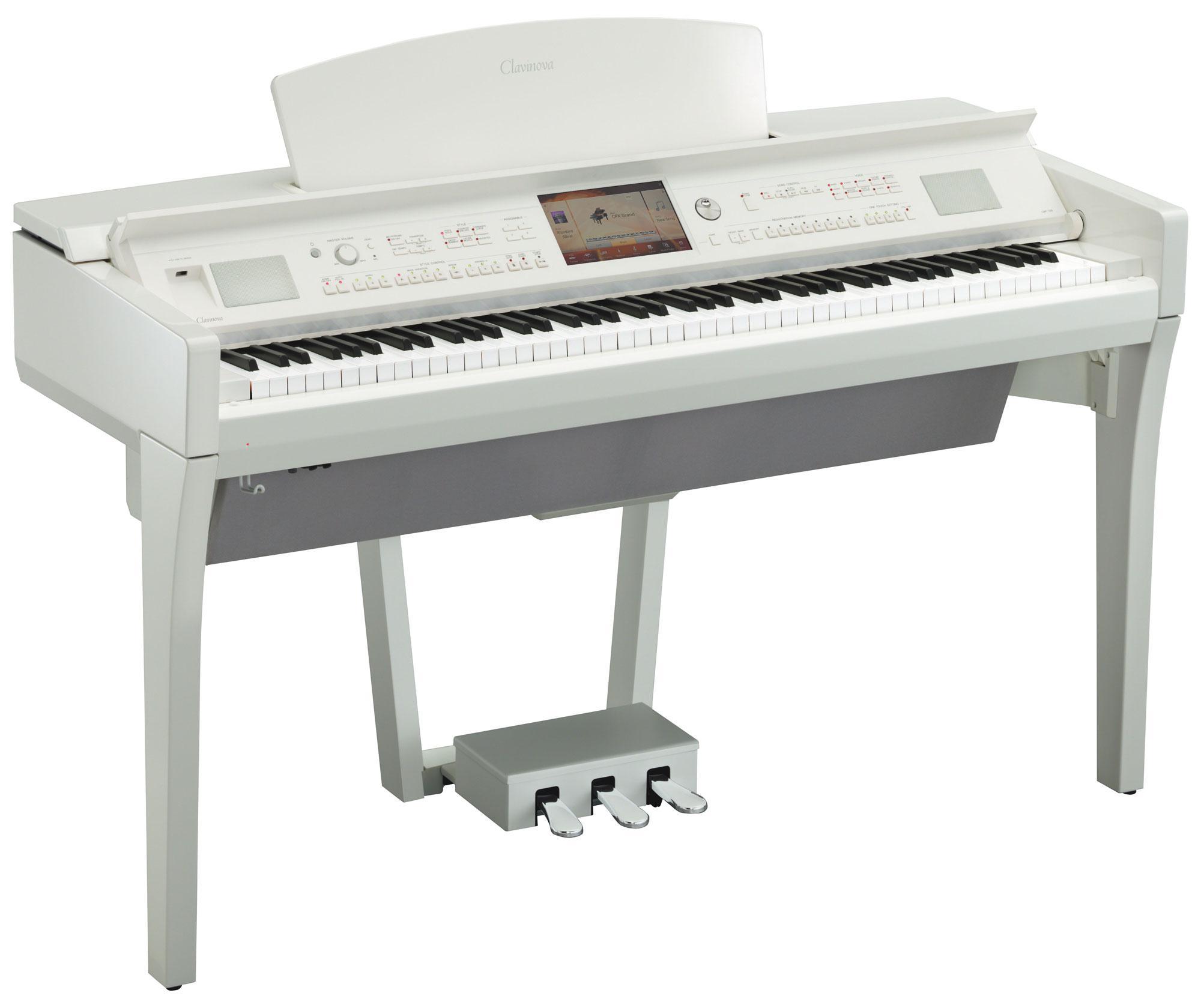 Yamaha cvp 709 pwh clavinova digitalpiano wei hochglanz for Yamaha cvp 709