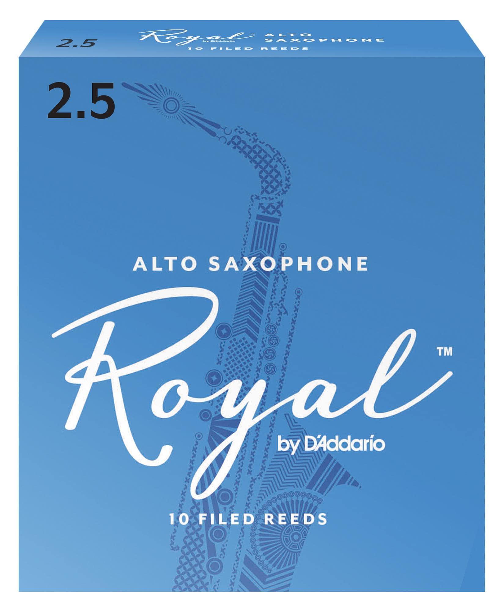 D'Addario Royal 10er Pack Altsaxophon Blätter Stärke 2,5
