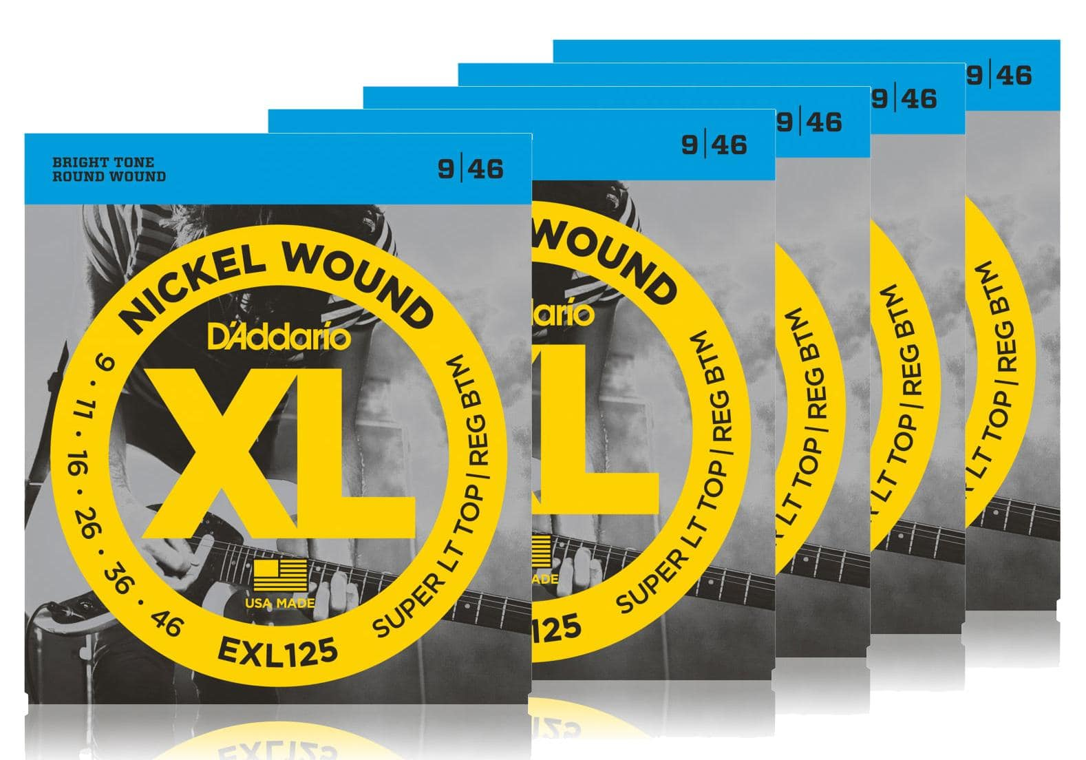 Saiten - D'Addario EXL125 Super Light Top|Regular Bottom 5er Pack - Onlineshop Musikhaus Kirstein