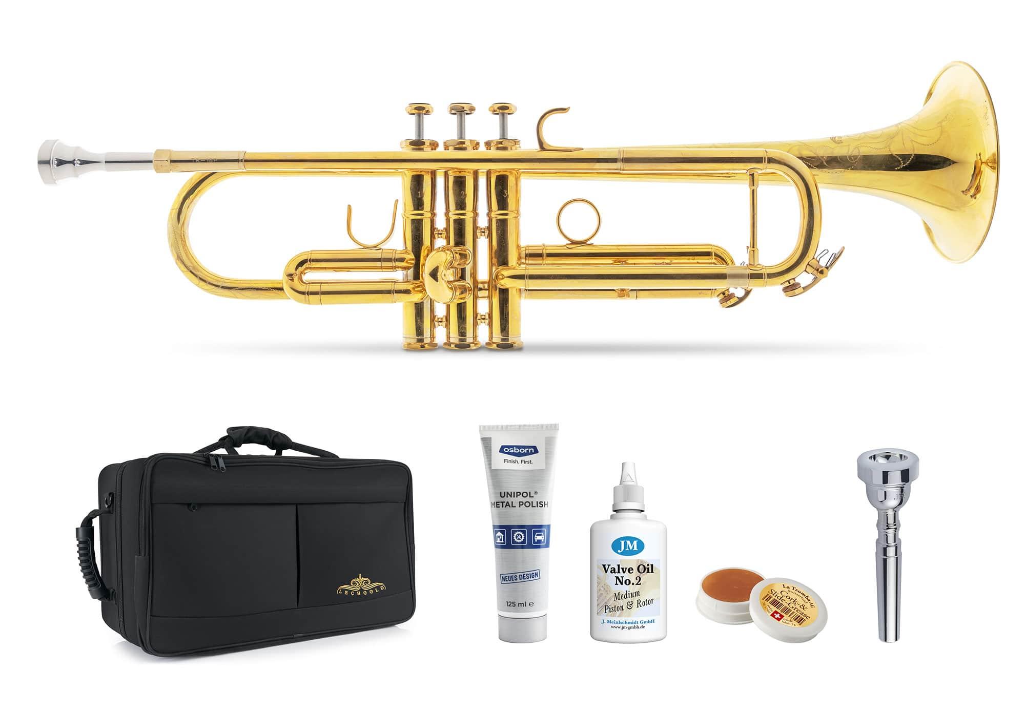 Trompeten - Lechgold TR 16R Bb Trompete unbehandelt Deluxe Set - Onlineshop Musikhaus Kirstein