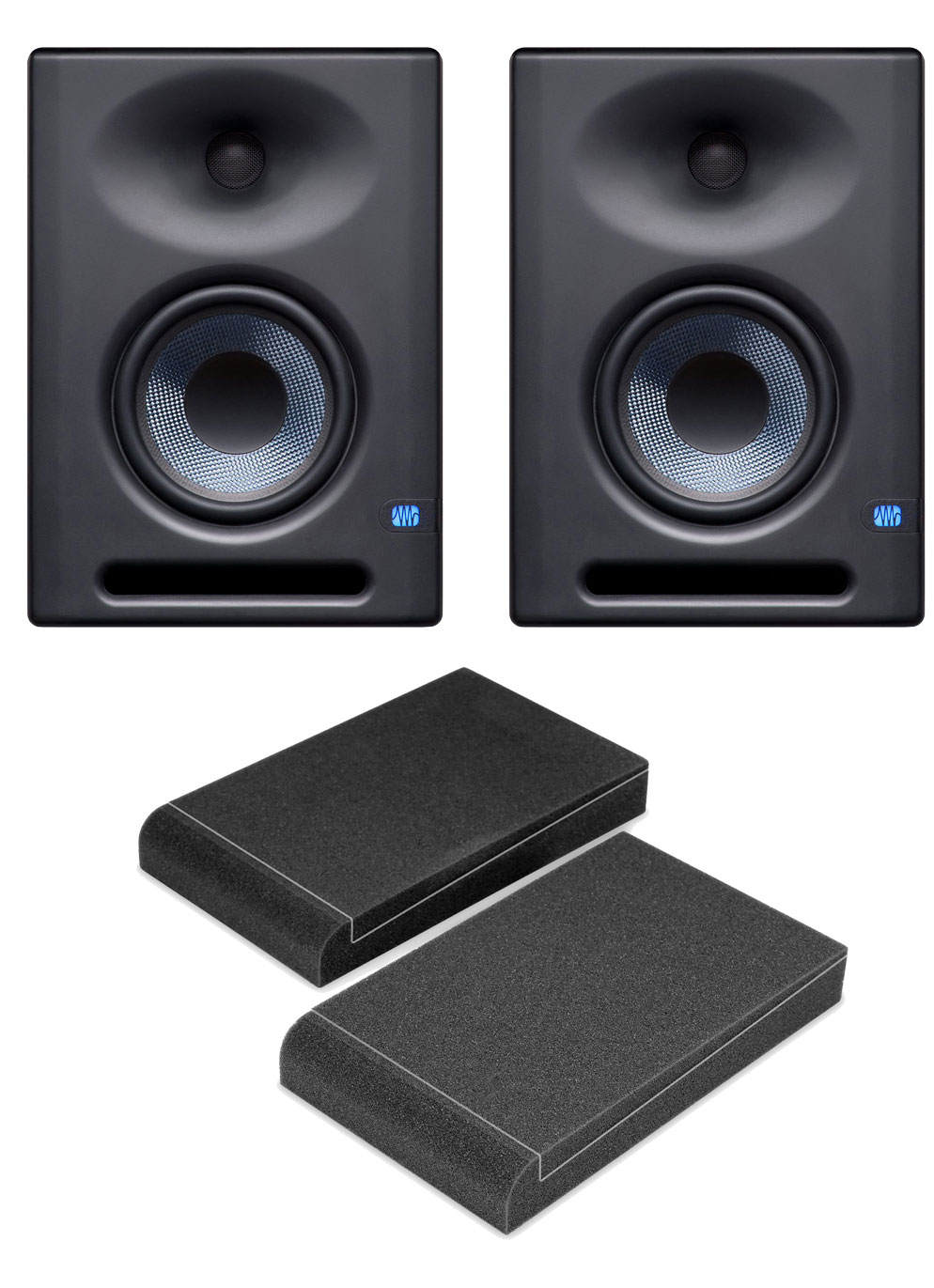 Studiomonitore - Presouns Eris E5 XT Aktives Studiomonitor Paar inkl. Absorberplatten - Onlineshop Musikhaus Kirstein