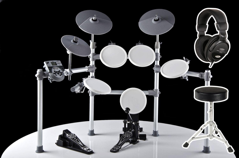 XDrum DD 516 E Drum Komplettset inkl. Hocker Kopfhörer