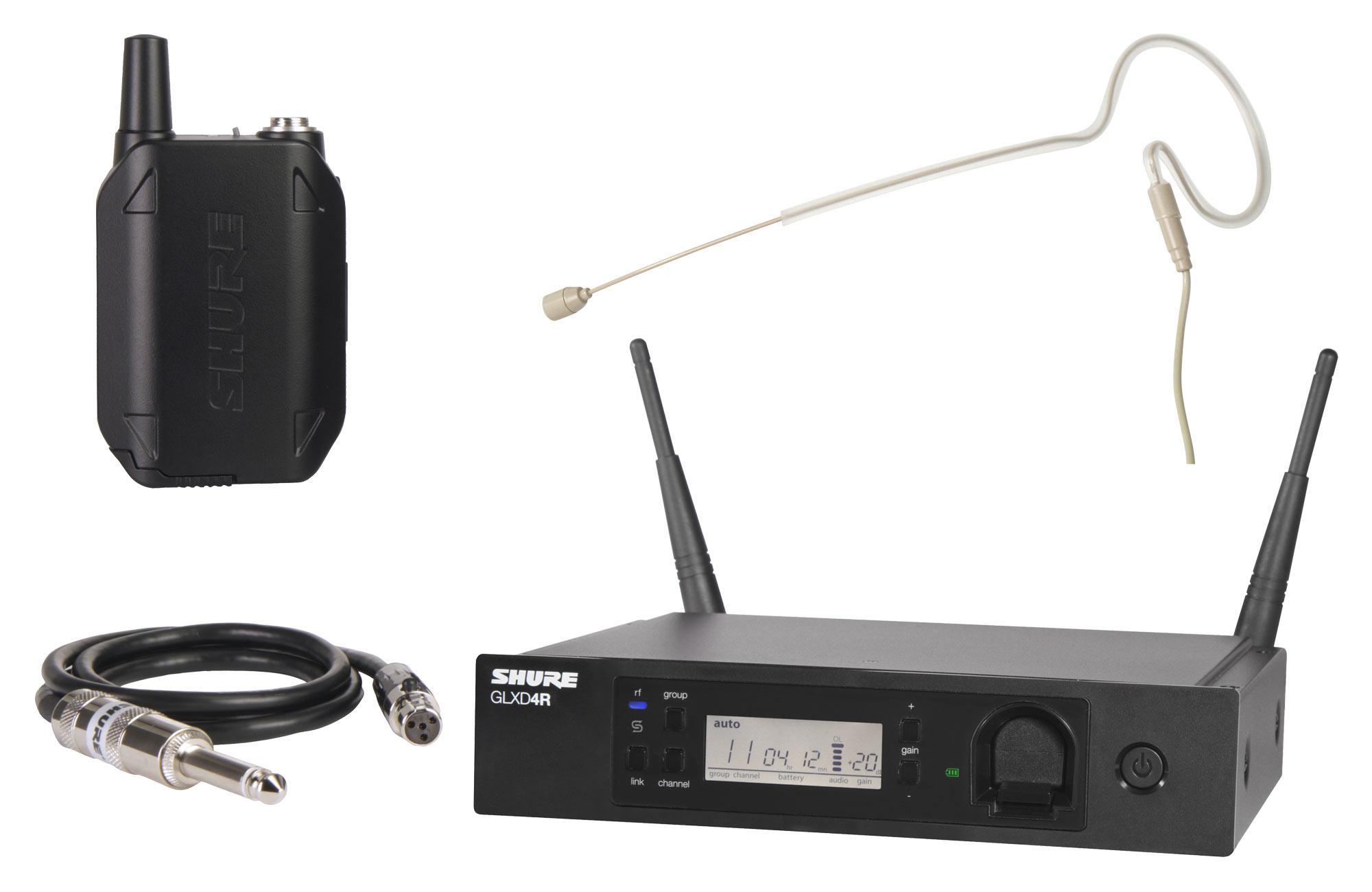 Shure GLXD14R Digital Funksystem Set inkl. HS 11 Headsetmikrofon