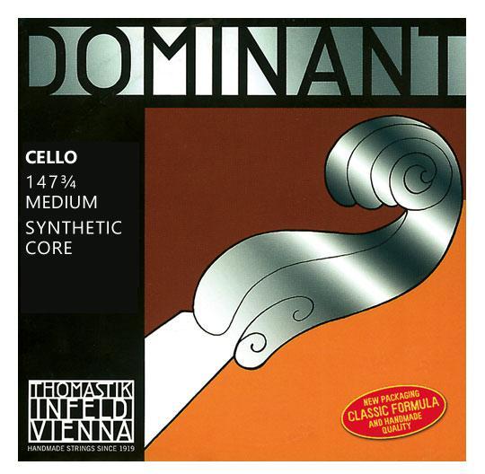 Streichsaiten - Thomastik Dominant 147 Saitensatz für Cello 3|4 - Onlineshop Musikhaus Kirstein