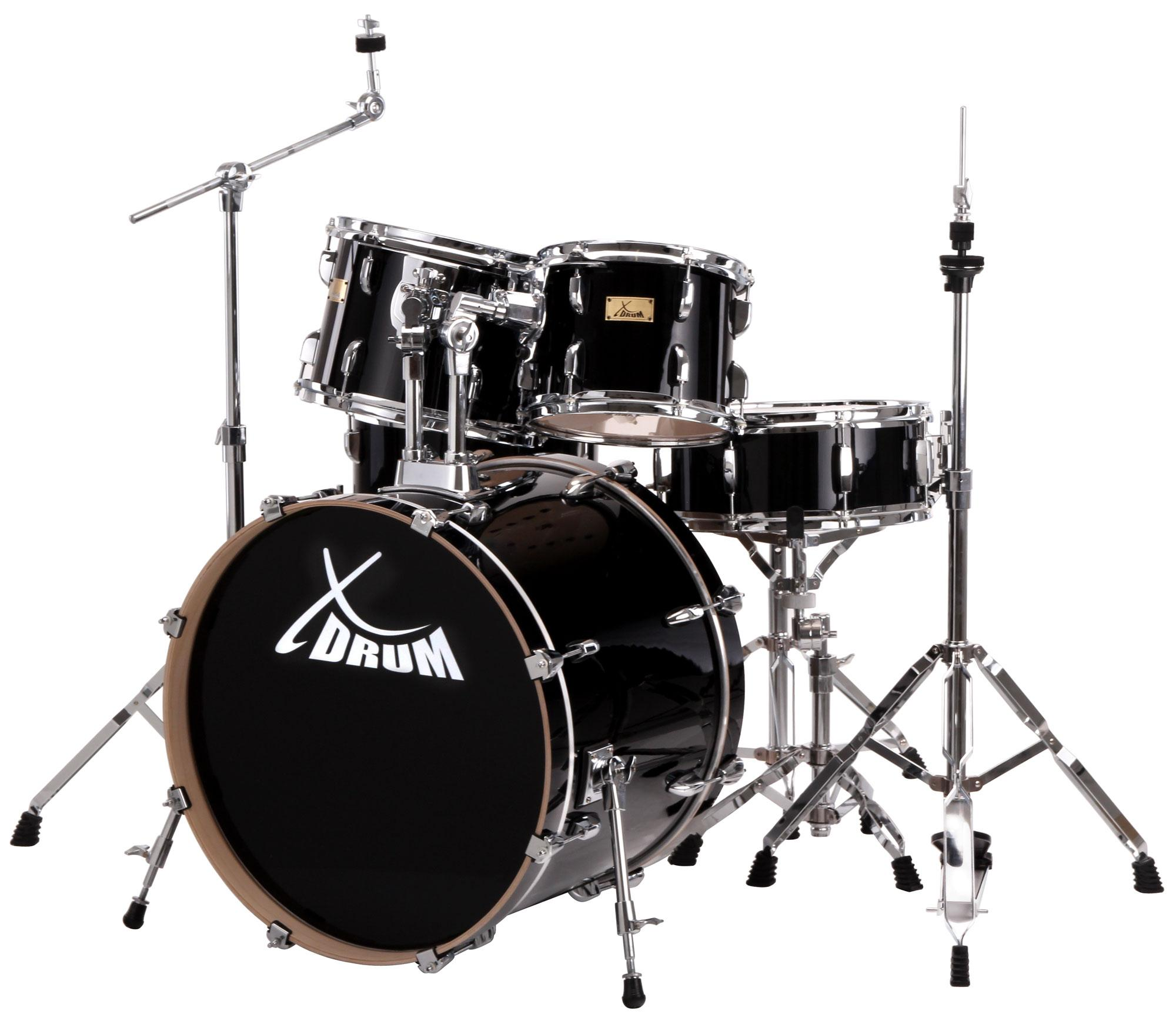 XDrum Stage II Studio Schlagzeug Set Raven Black