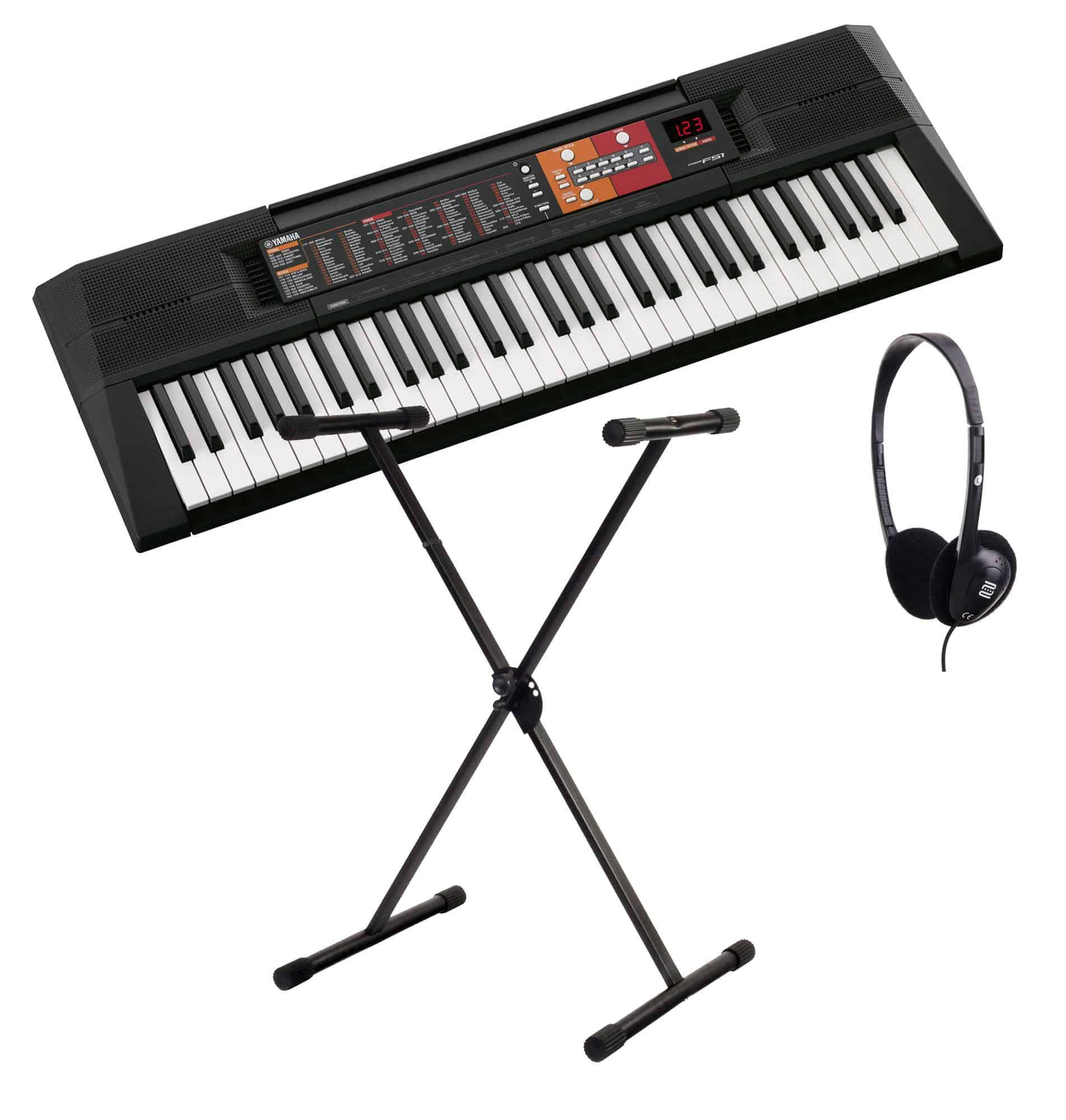 yamaha psr f51 keyboard set inkl keyboardst nder kopfh rer. Black Bedroom Furniture Sets. Home Design Ideas
