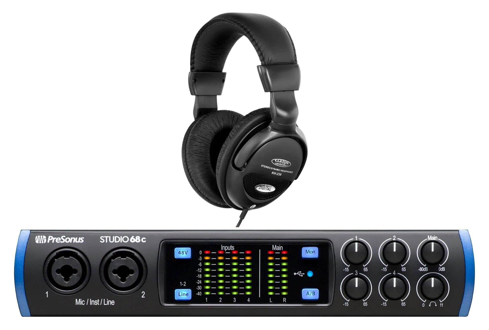 PreSonus Studio 68c USB C Audio Interface Set