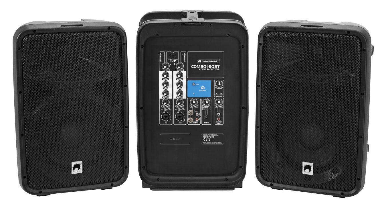 Boxenkomplettanlagen - Omnitronic Combo 160BT Aktiv PA System - Onlineshop Musikhaus Kirstein