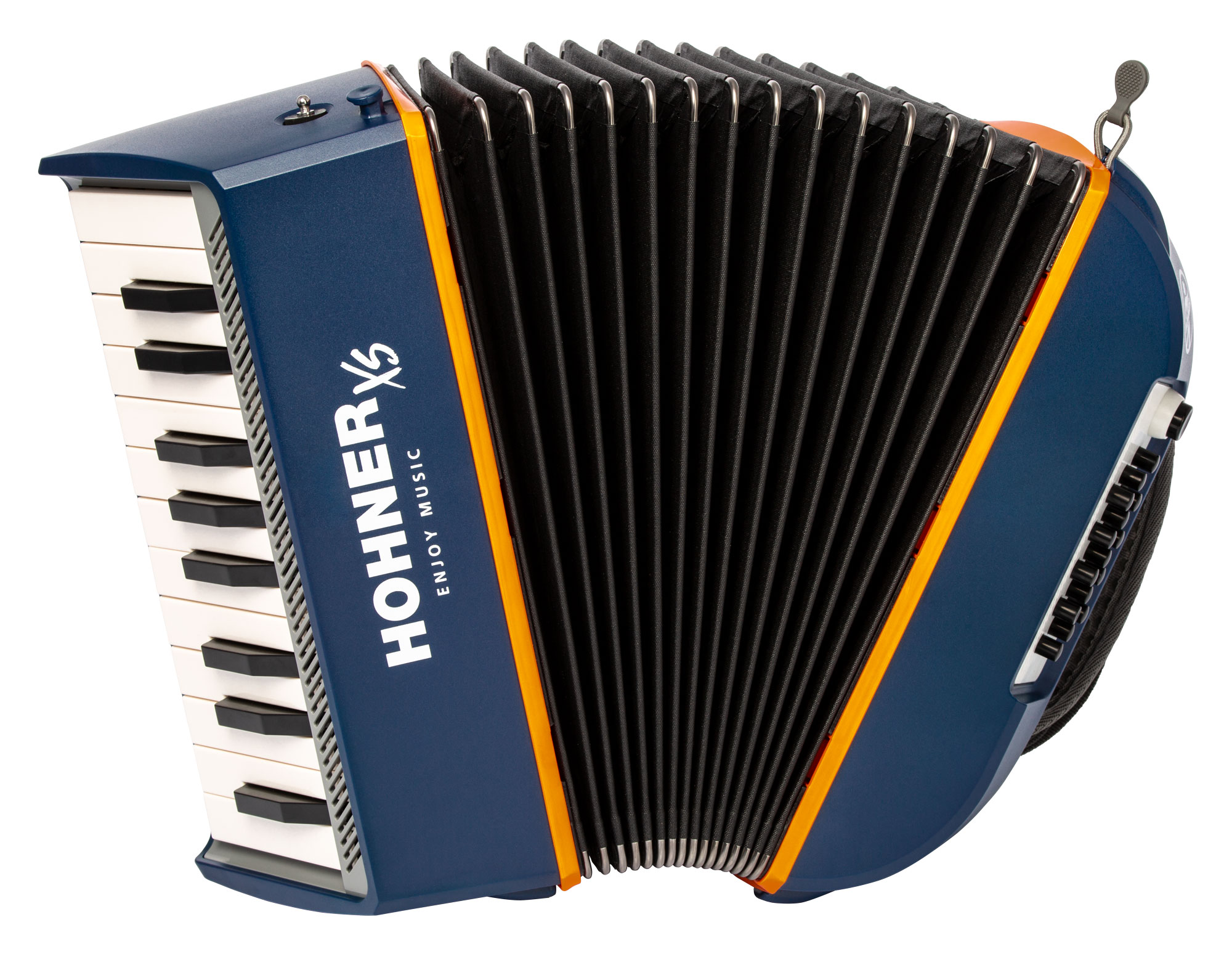 Akkordeons - Hohner XS Kinder Akkordeon blau orange - Onlineshop Musikhaus Kirstein