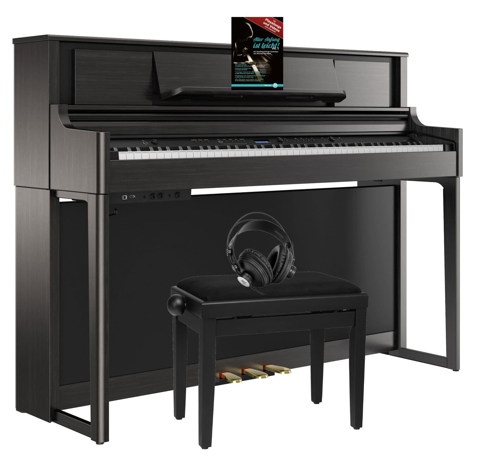Digitalpianos - Roland LX705 CH Digitalpiano SM Set Anthrazit - Onlineshop Musikhaus Kirstein