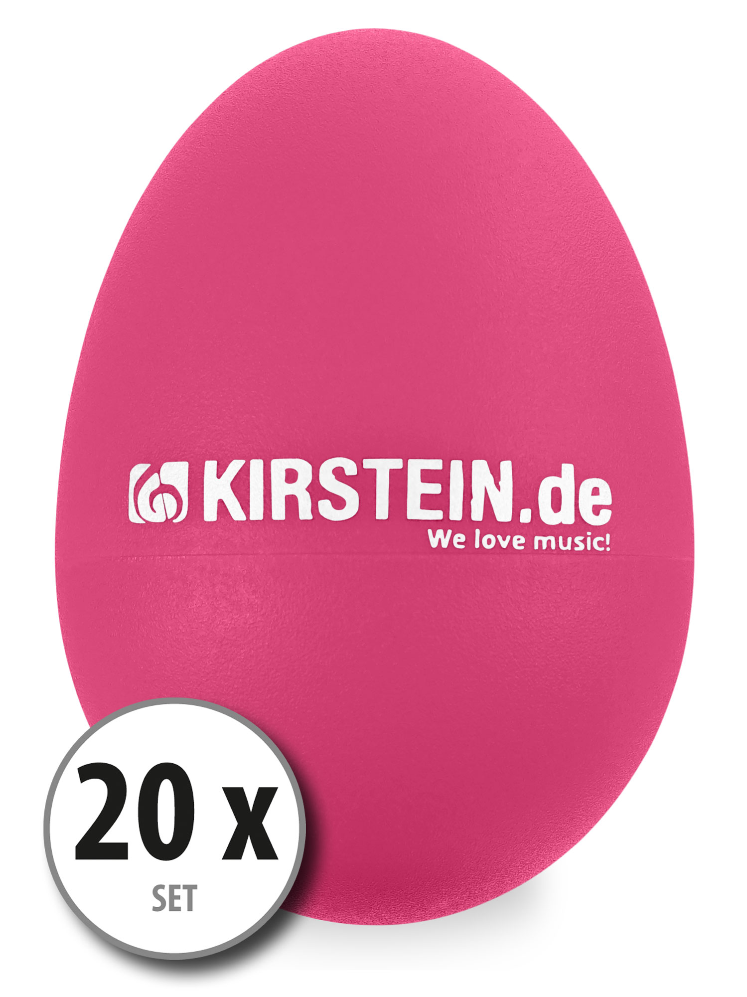 20x Kirstein ES 10P Egg Shaker pink Medium Light Set