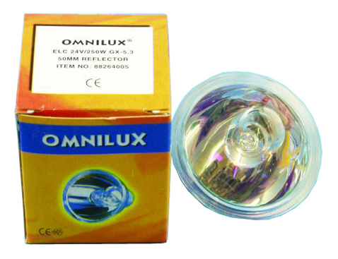 Lichtzubehoer - Omnilux ELC 24V|250W Lampe GX 5,3 - Onlineshop Musikhaus Kirstein
