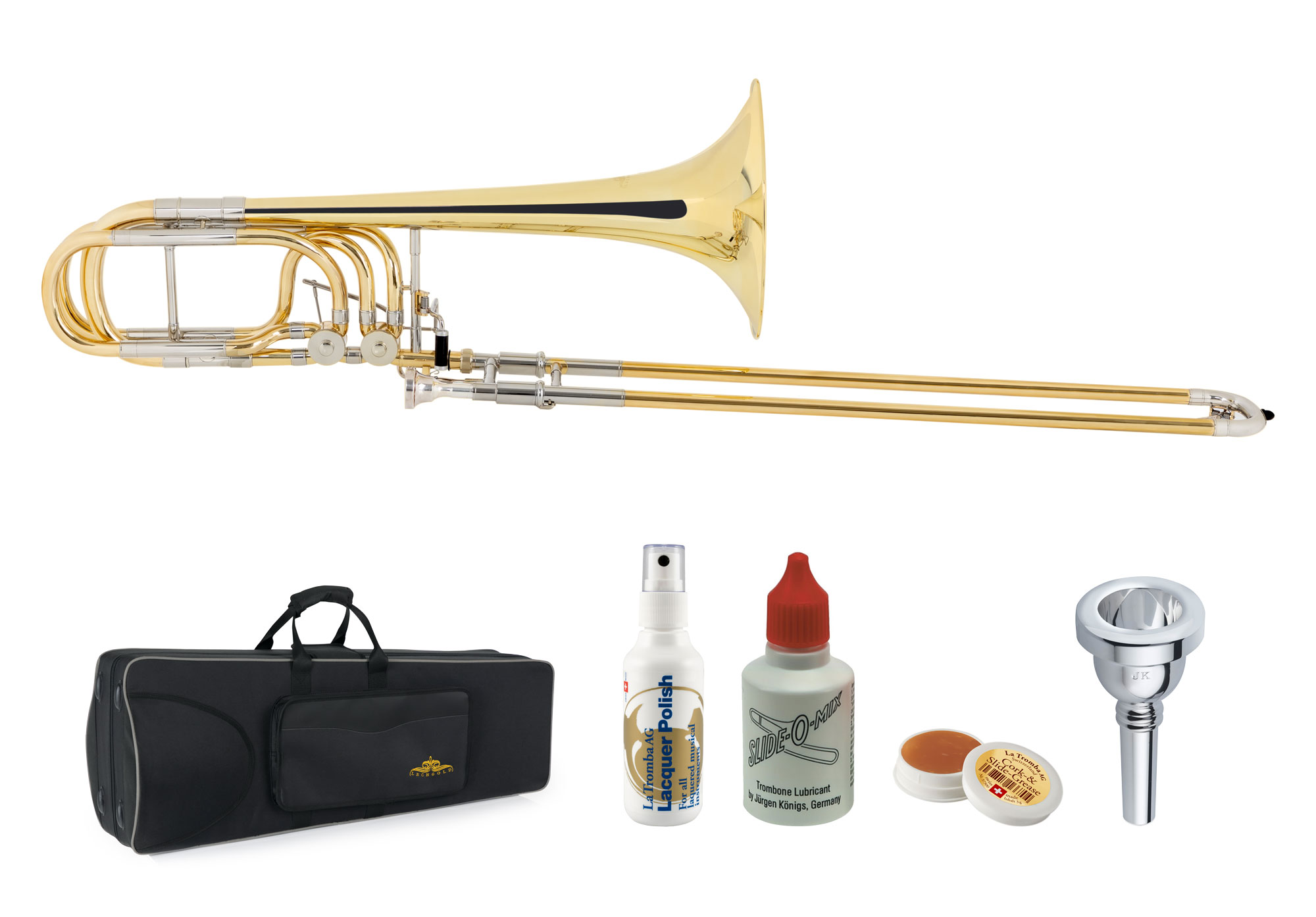 Posaunen - Lechgold BP 18L Bassposaune Messing Deluxe Set - Onlineshop Musikhaus Kirstein