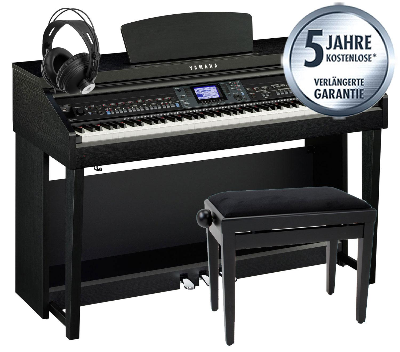 Yamaha cvp 601 b clavinova digitalpiano schwarz matt set for Yamaha clavinova cvp 601